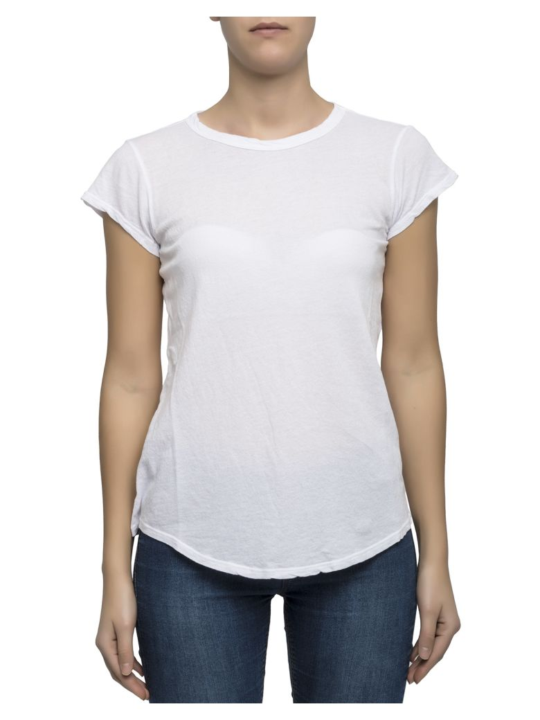 James perse white cotton t shirt white women 39 s short for James perse t shirts sale
