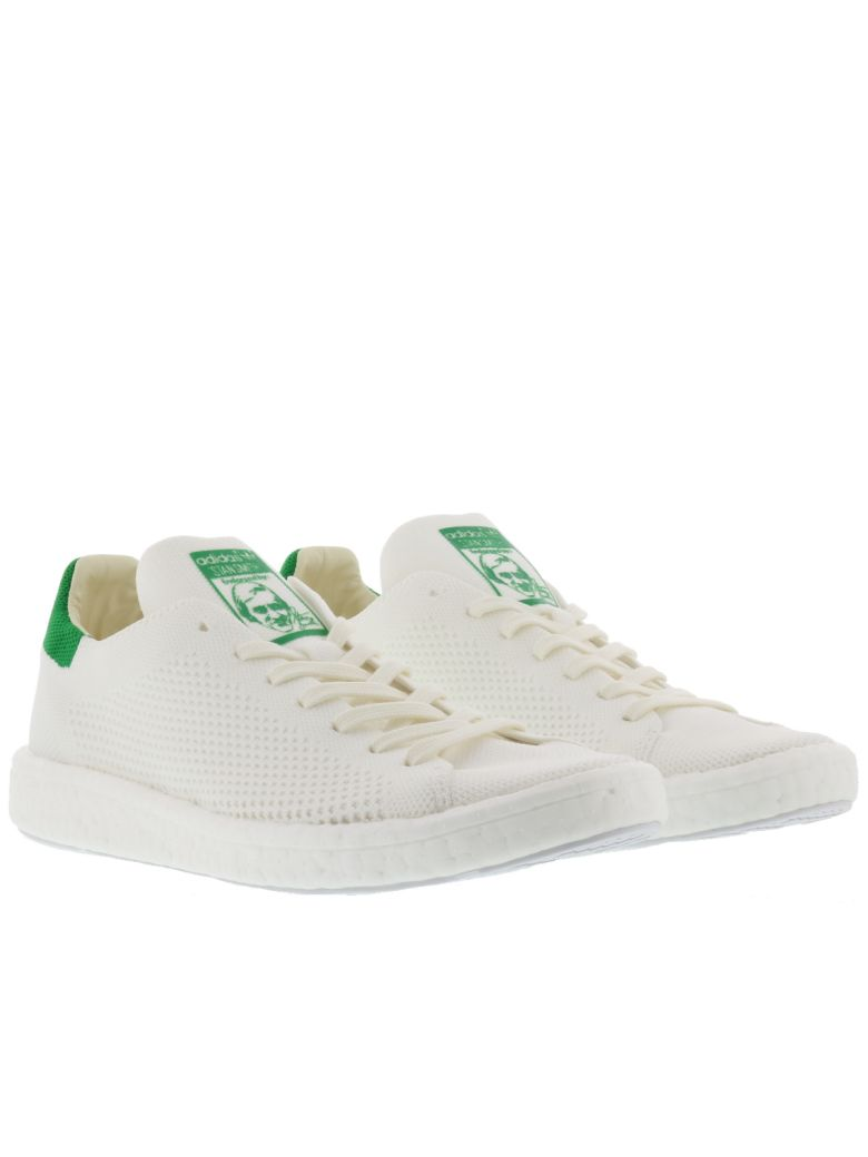 d8d82c242bad ADIDAS ORIGINALS. Adidas Originals Stan Smith Boost Pk Sneakers in White  Green