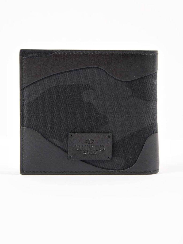 Valentino Garavani - Valentino Garavani Camouflage Billfold Wallet - Black, Men's Wallets | Italist