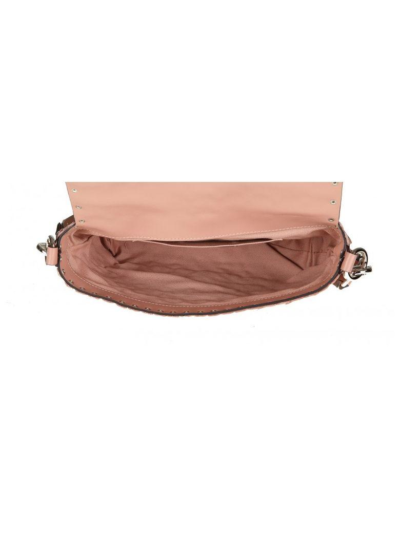 RED VALENTINO Studded Shoulder Bag in Nude
