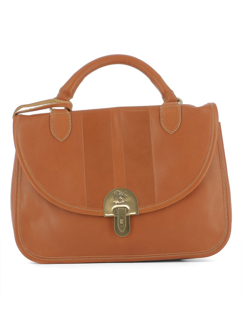 Il Bisonte Orange Leather Handle Bag