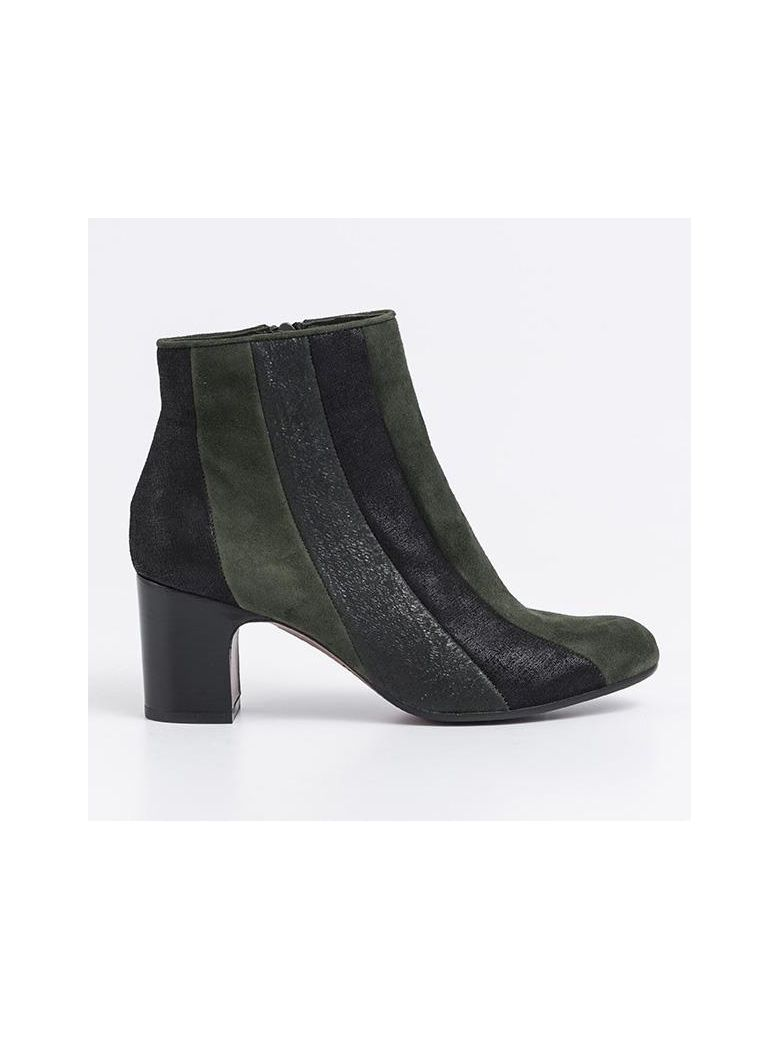 Designers Chie Mihara Fantia Booties Ginza Suede Multicolor Black For Women Online Sale