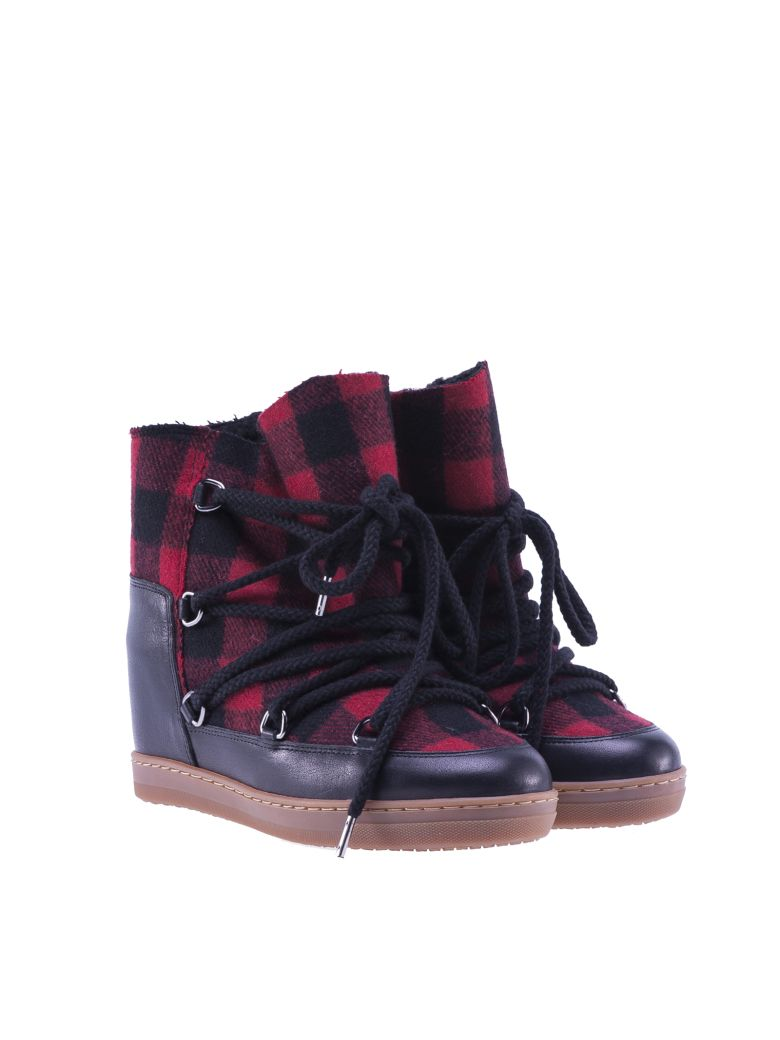 isabel marant isabel marant nowles boots red women 39 s. Black Bedroom Furniture Sets. Home Design Ideas