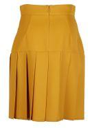 Gucci Silk-Wool Pleated Mini Skirt