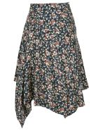 Isabel Marant Asymmetric Floral Print Skirt