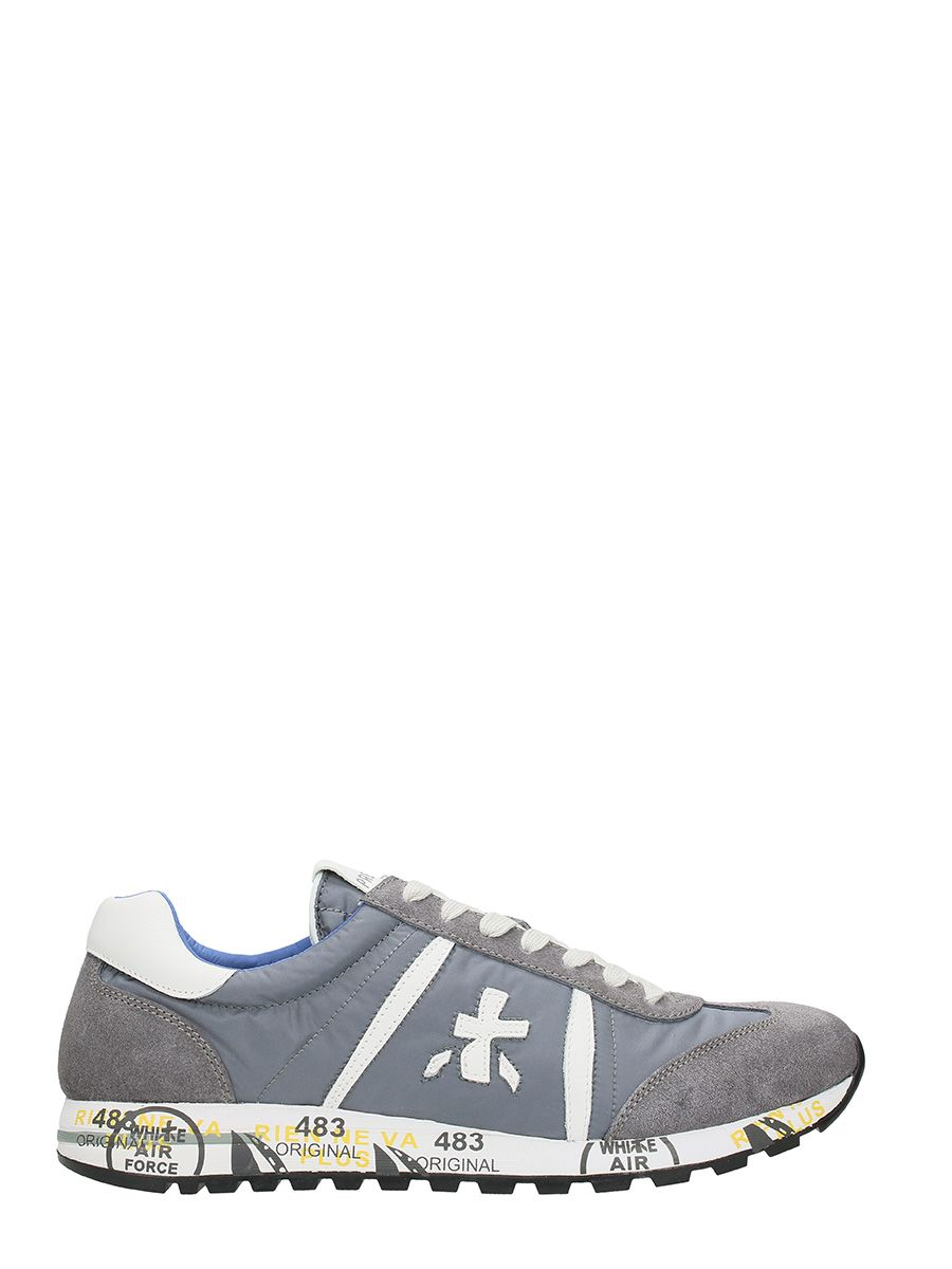 Premiata Grey Nylon And Suede Lucy Sneakers