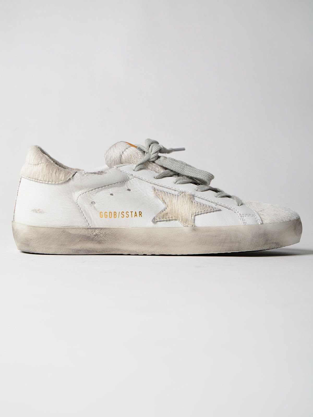 Golden Goose Sneakers Superstar Silver Horsy Star