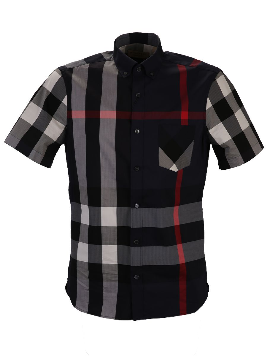 Check Printend Cotton Blend Shirt