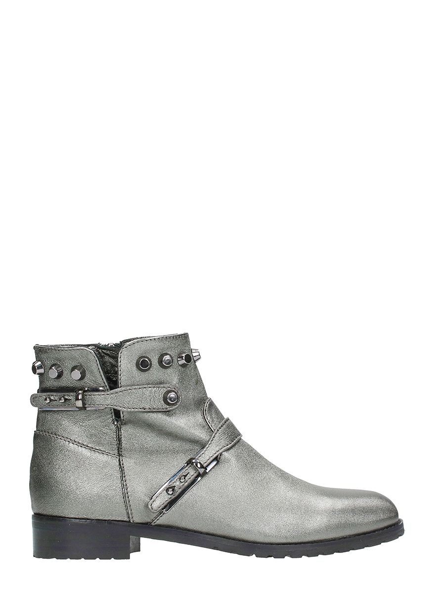Julie Dee Silver Leather Boots