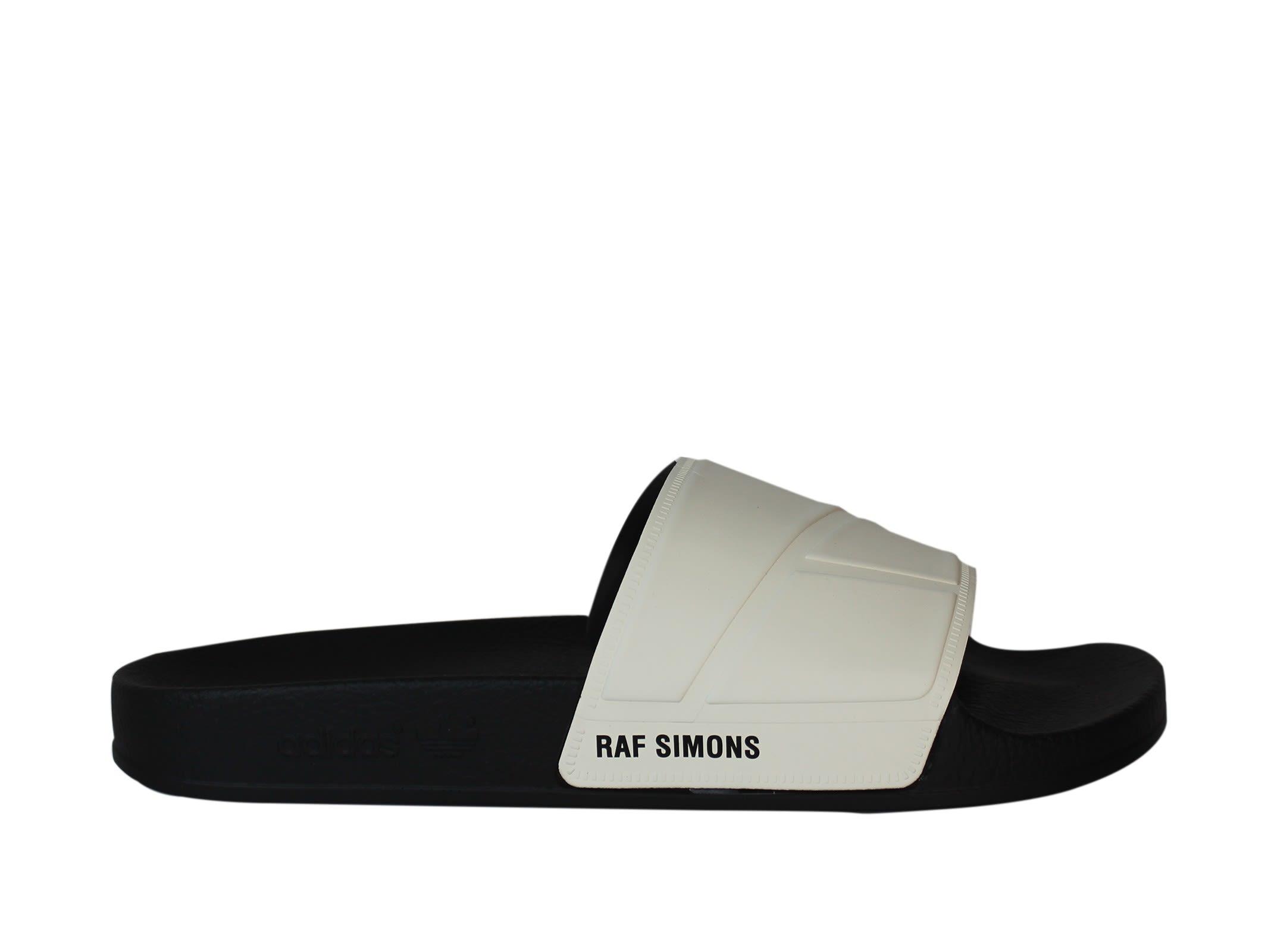 Adidas By Raf Simons Adilette White Sandals
