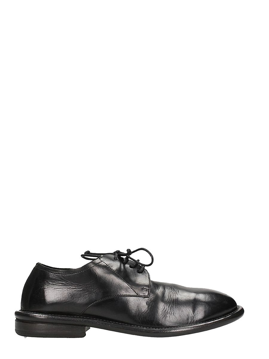 Marsell Cetrolio Bombe Black Leather Lace Up