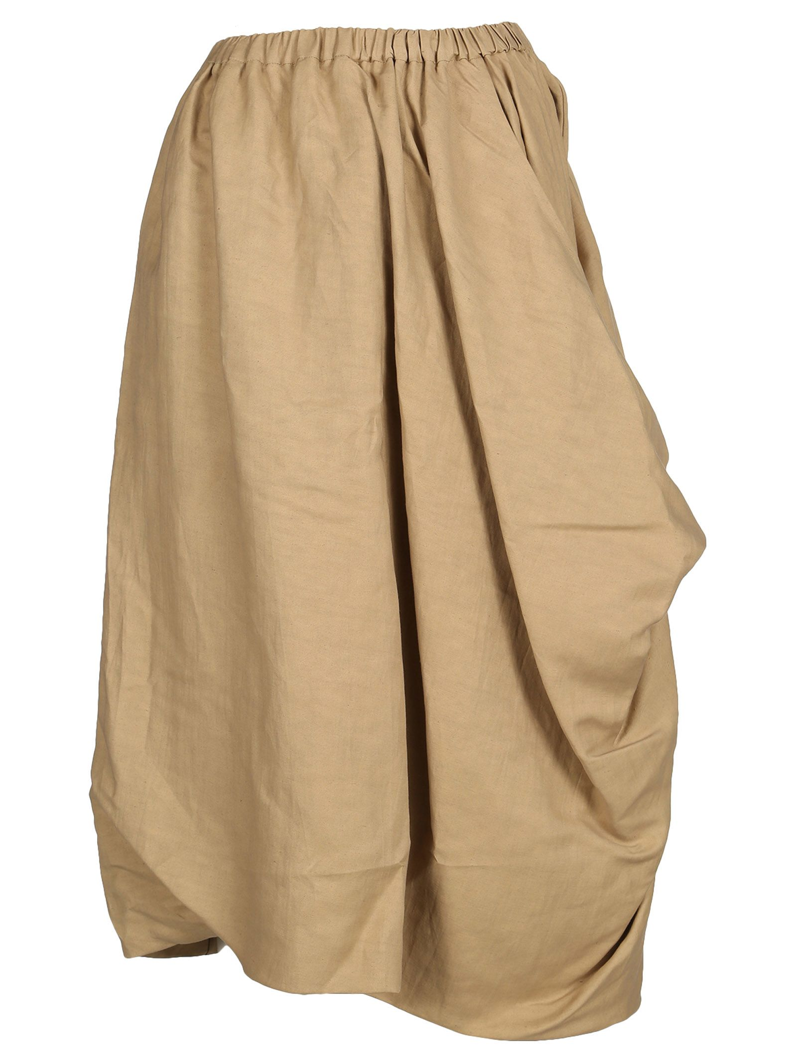 Céline Asymmetric Gathered Side Skirt