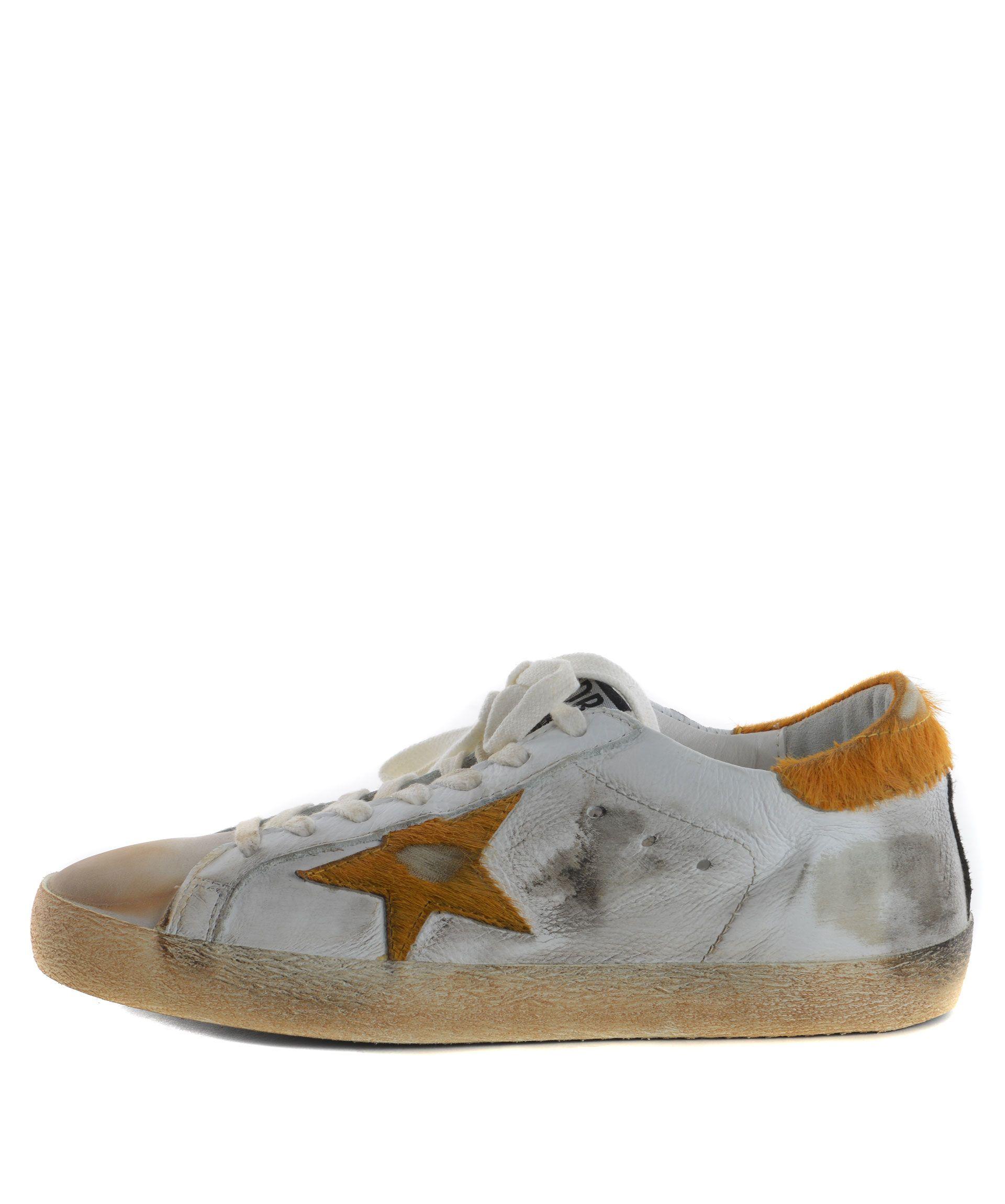 golden goose golden goose superstar sneakers bianco arancio men 39 s sneakers italist. Black Bedroom Furniture Sets. Home Design Ideas