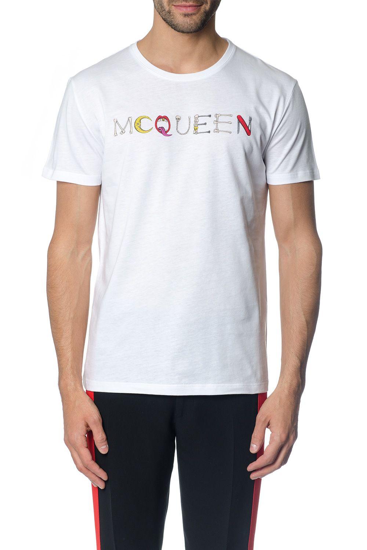 Alexander McQueen White Mcqueen Multicolor Print T-shirt