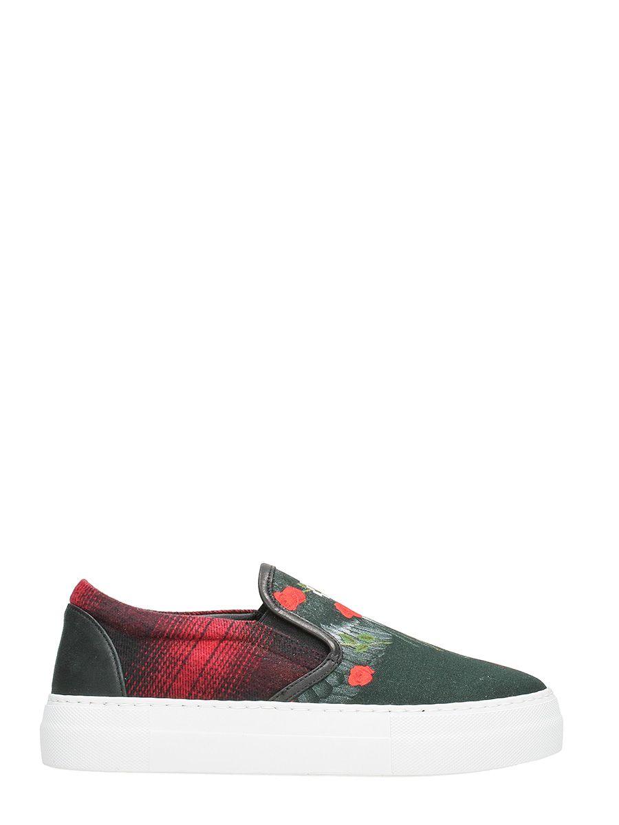 Marcelo Burlon Chekkar Slip On Sneakers