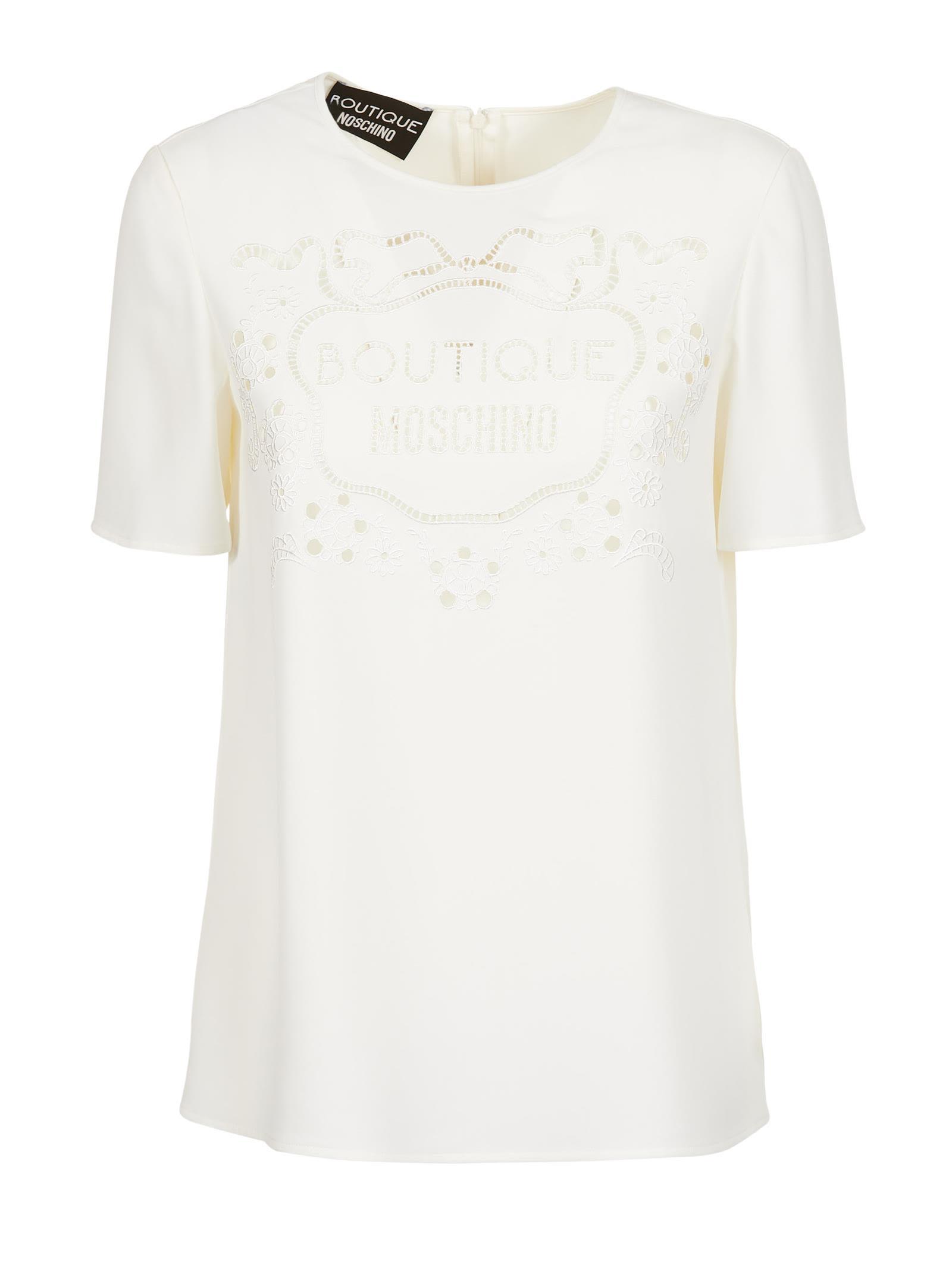 Boutique Moschino Lace Logo T-shirt