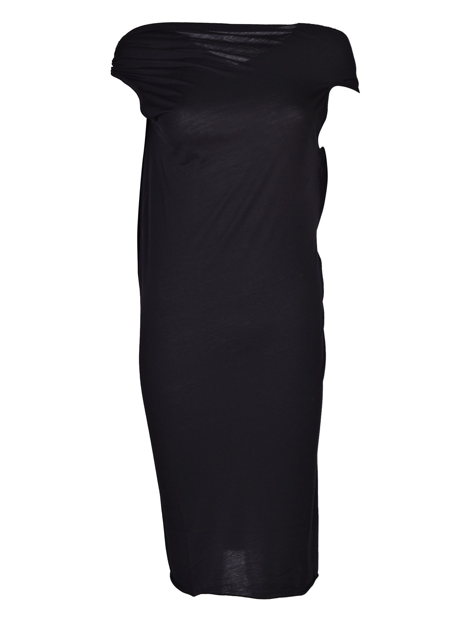 Rick Owens Lilies Twisted Neck Fitted Dress