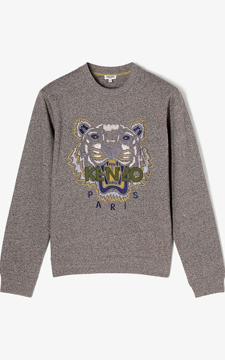 Kenzo Melange Grey Tiger Sweatshirt