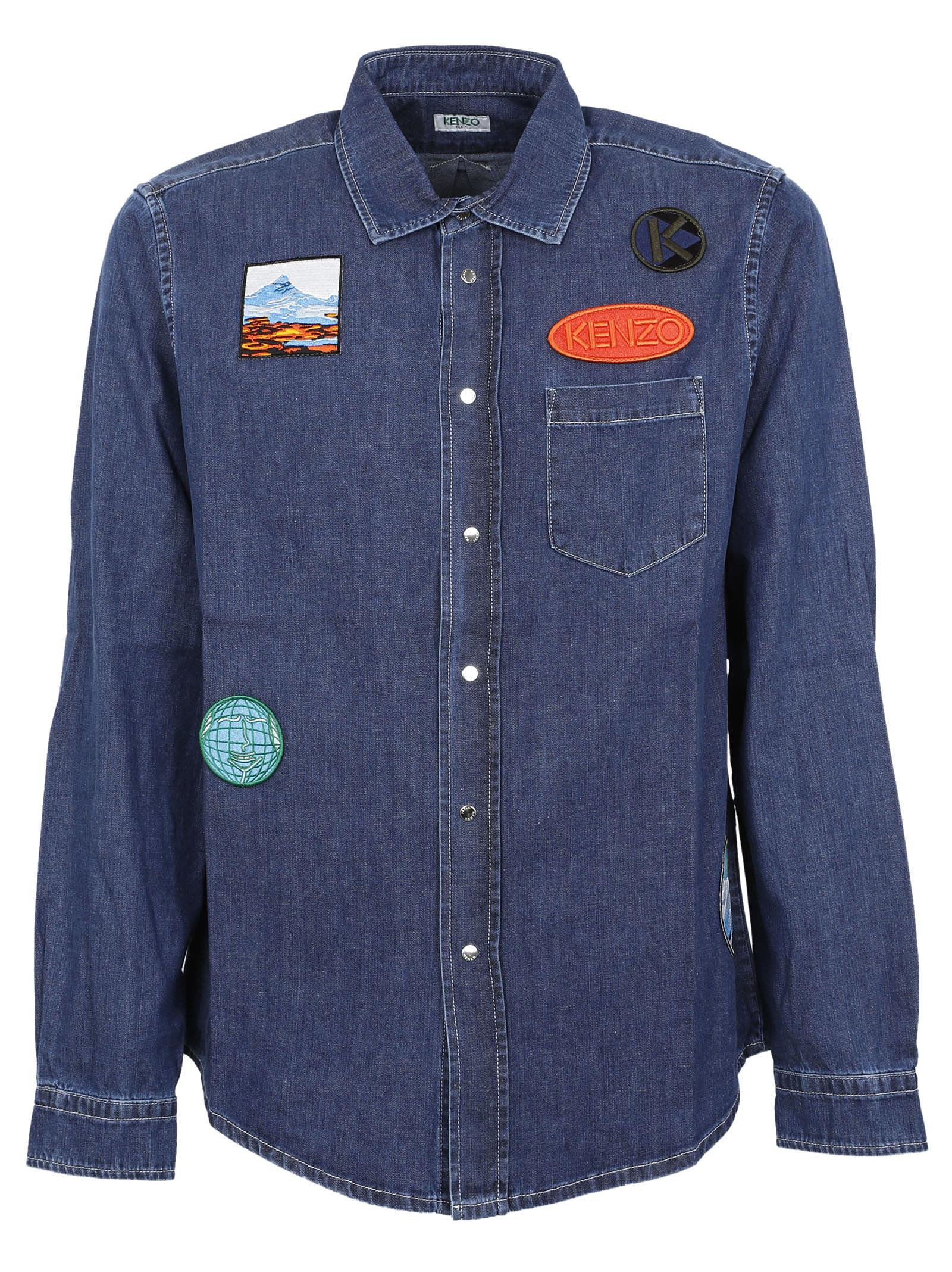 Kenzo Badges Denim Shirt