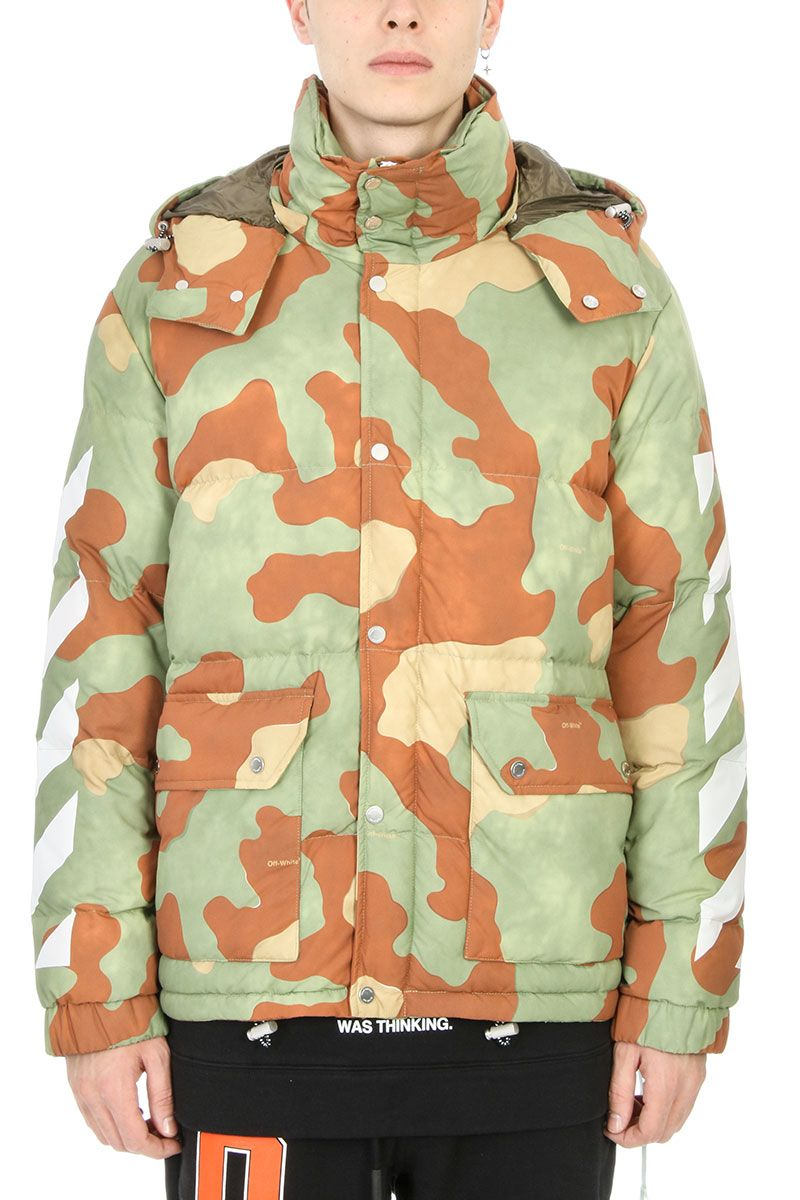 Off-White Camouflage-print Quilted Down Jacket