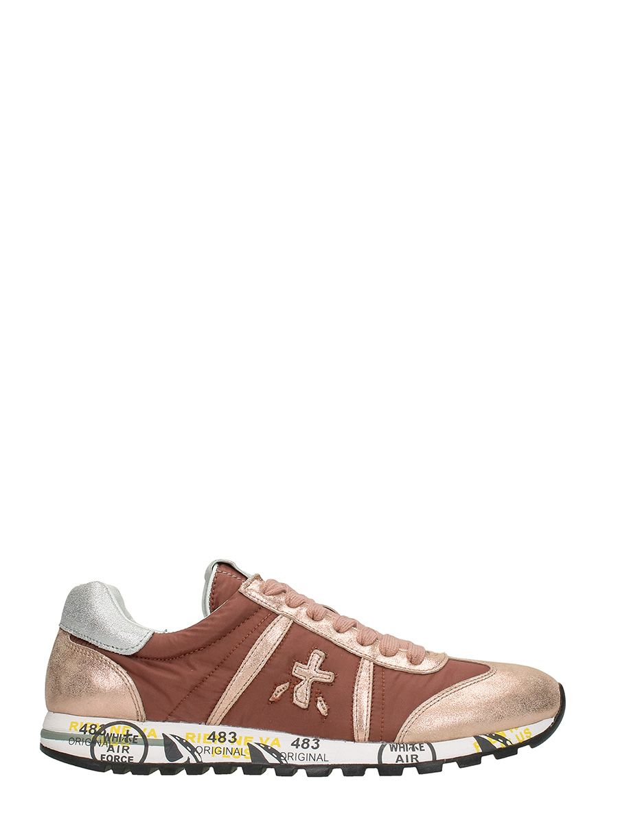 Premiata Lucy Leather And Fabric Sneakers