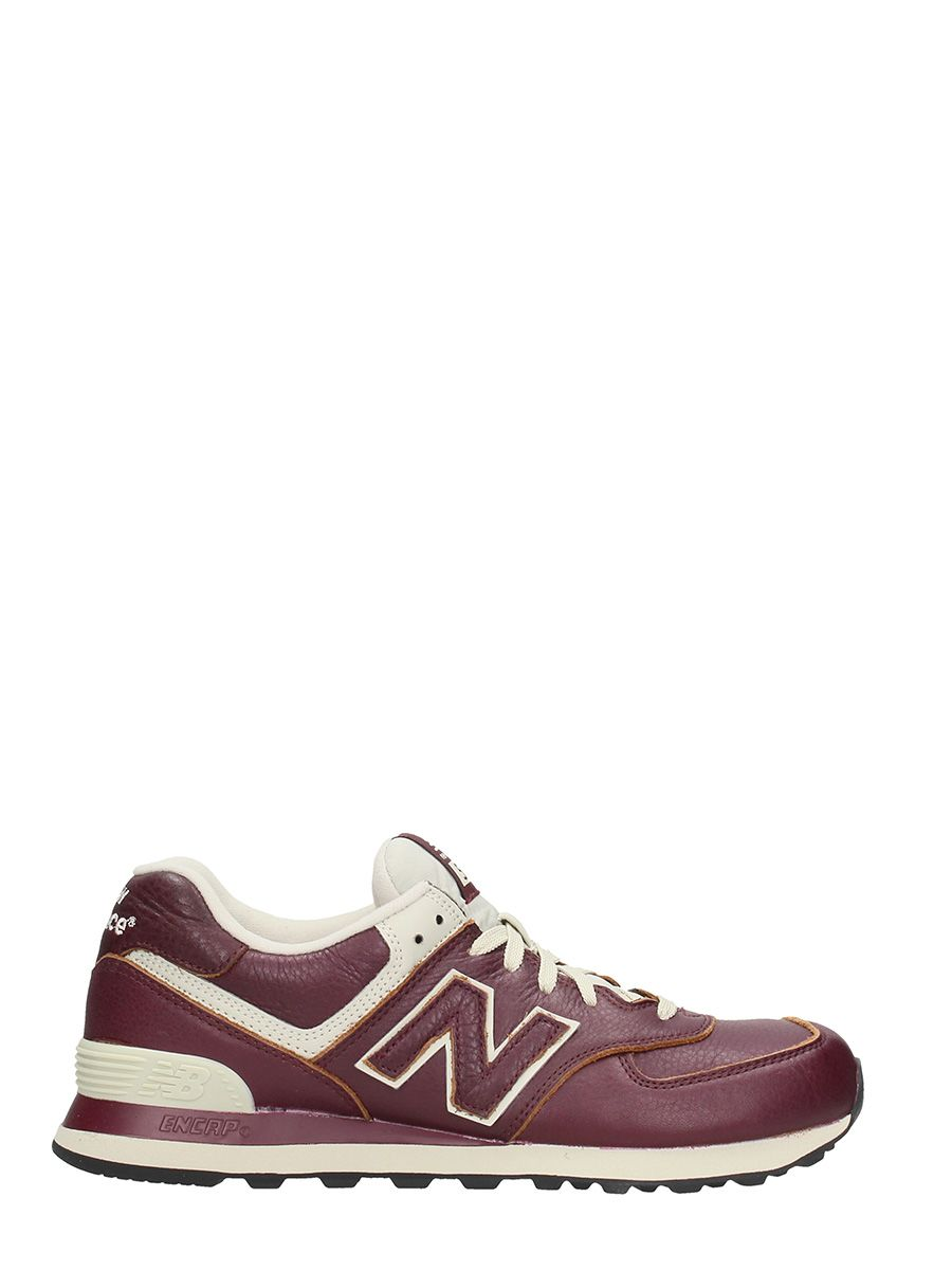 new balance new balance 574 bordeaux leather sneakers bordeaux men 39 s sneakers italist. Black Bedroom Furniture Sets. Home Design Ideas