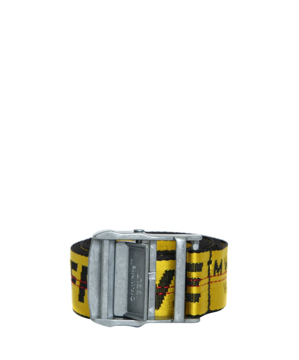 Classic Industrial Belt in Yellow Off-white