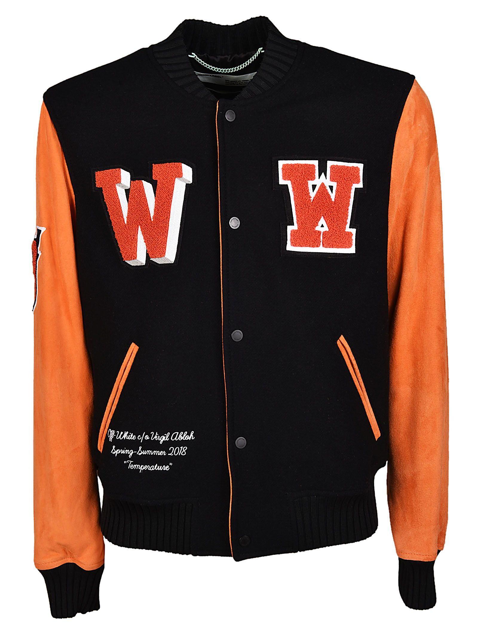 Off-white Eagle Varsity Bomber Jacket