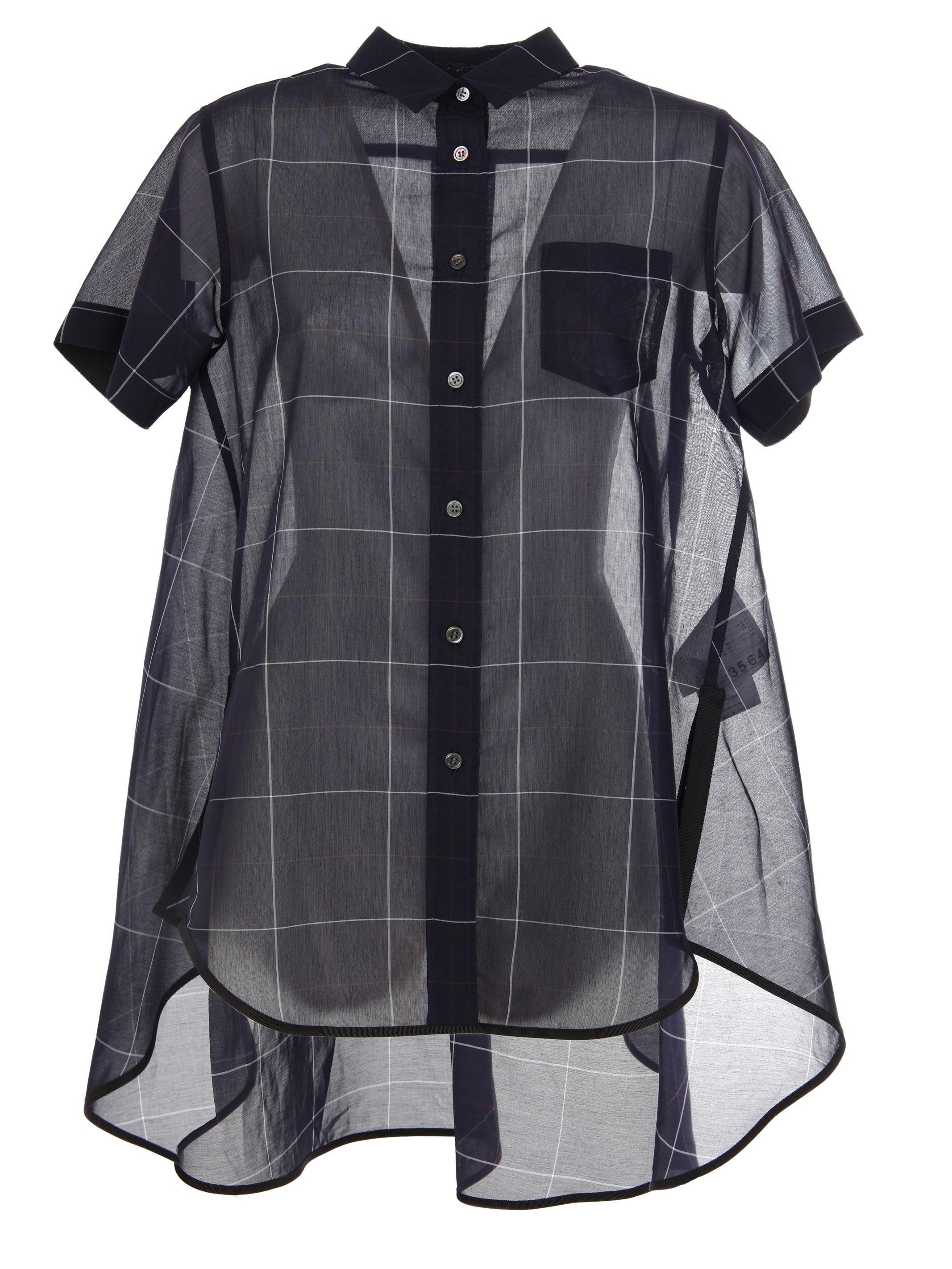 Sacai Check Organza Shirt