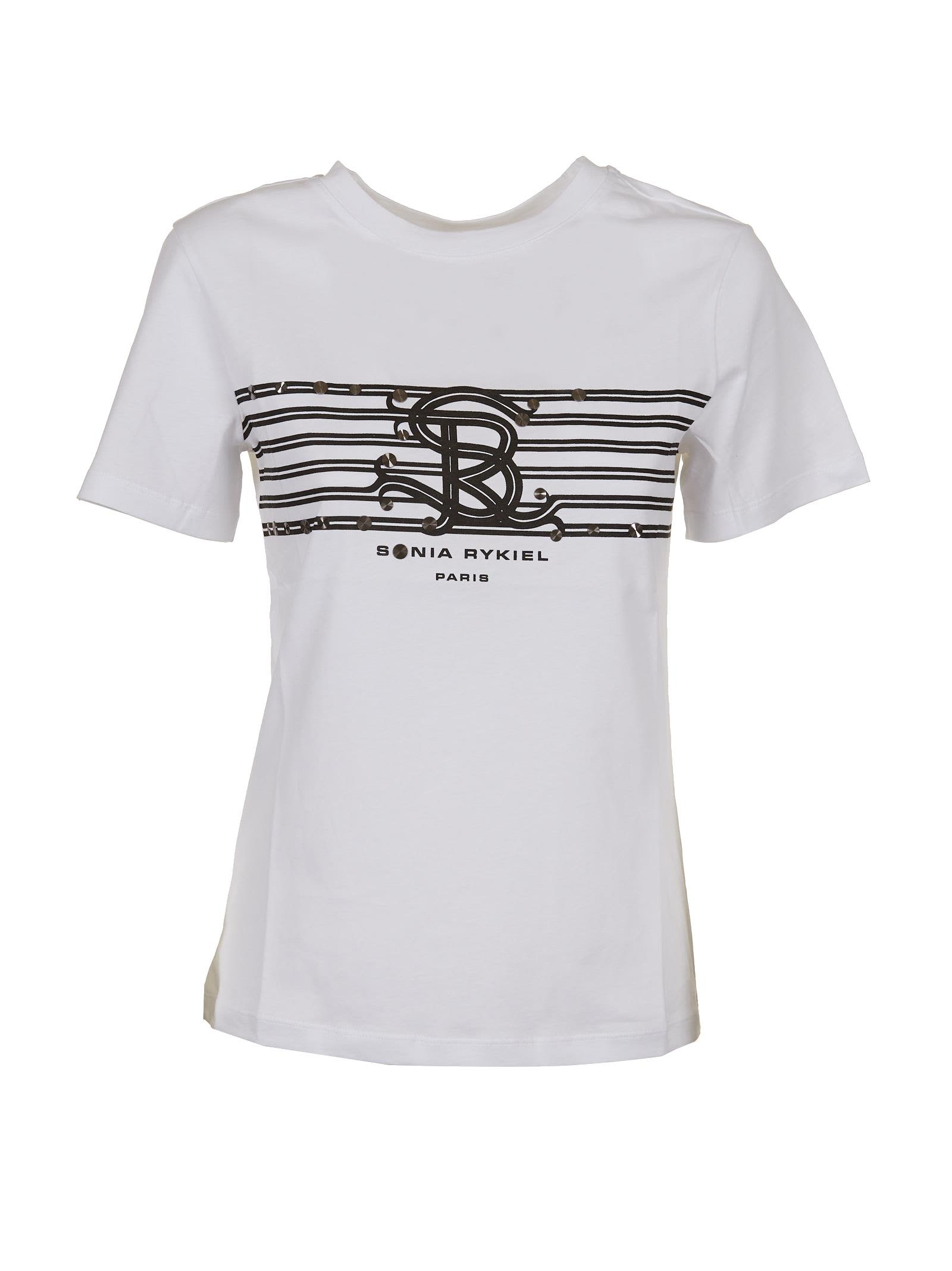 Sonia Rykiel Paris Logo Print T-shirt