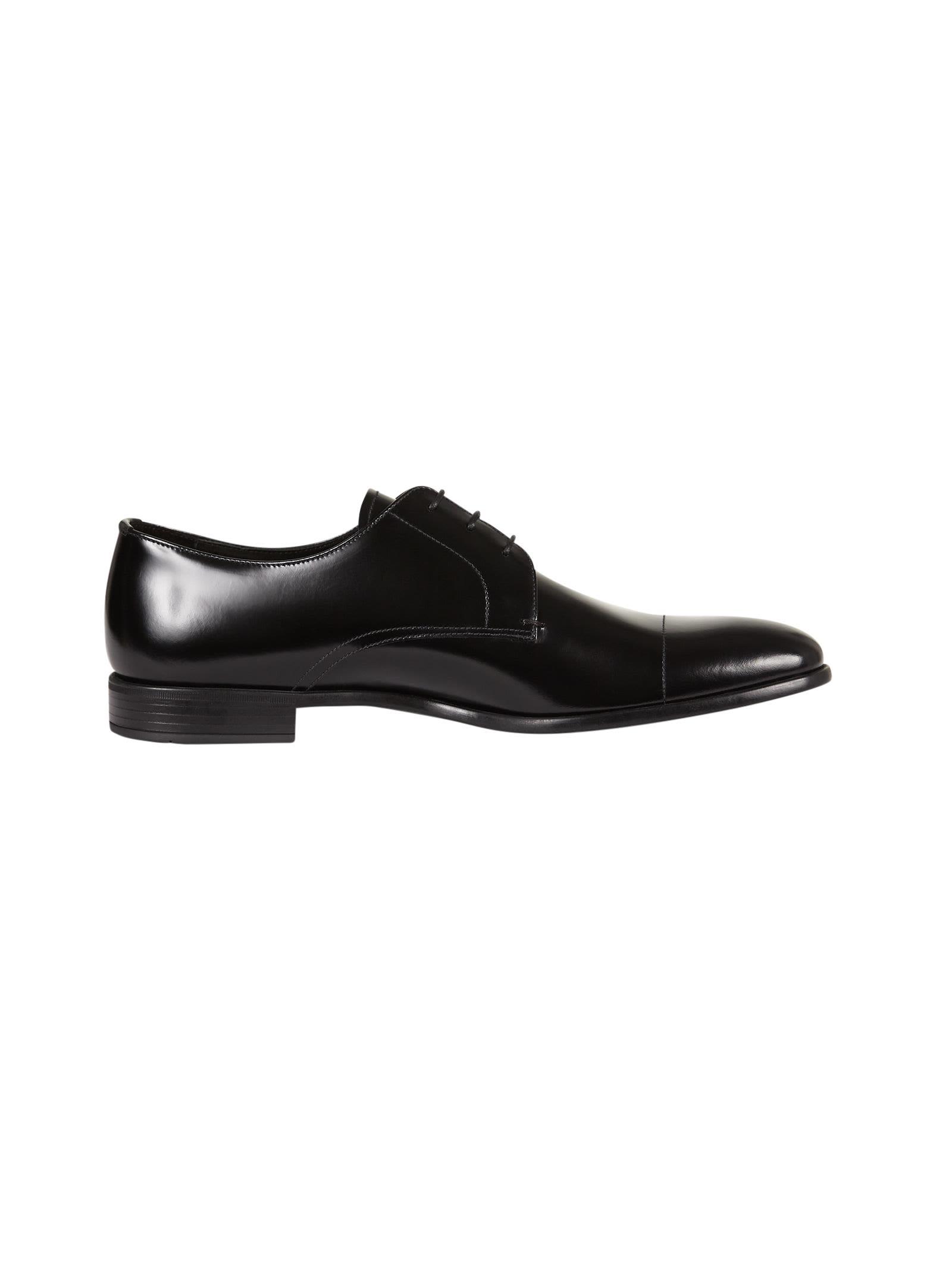Prada Square Toe Oxford Shoes