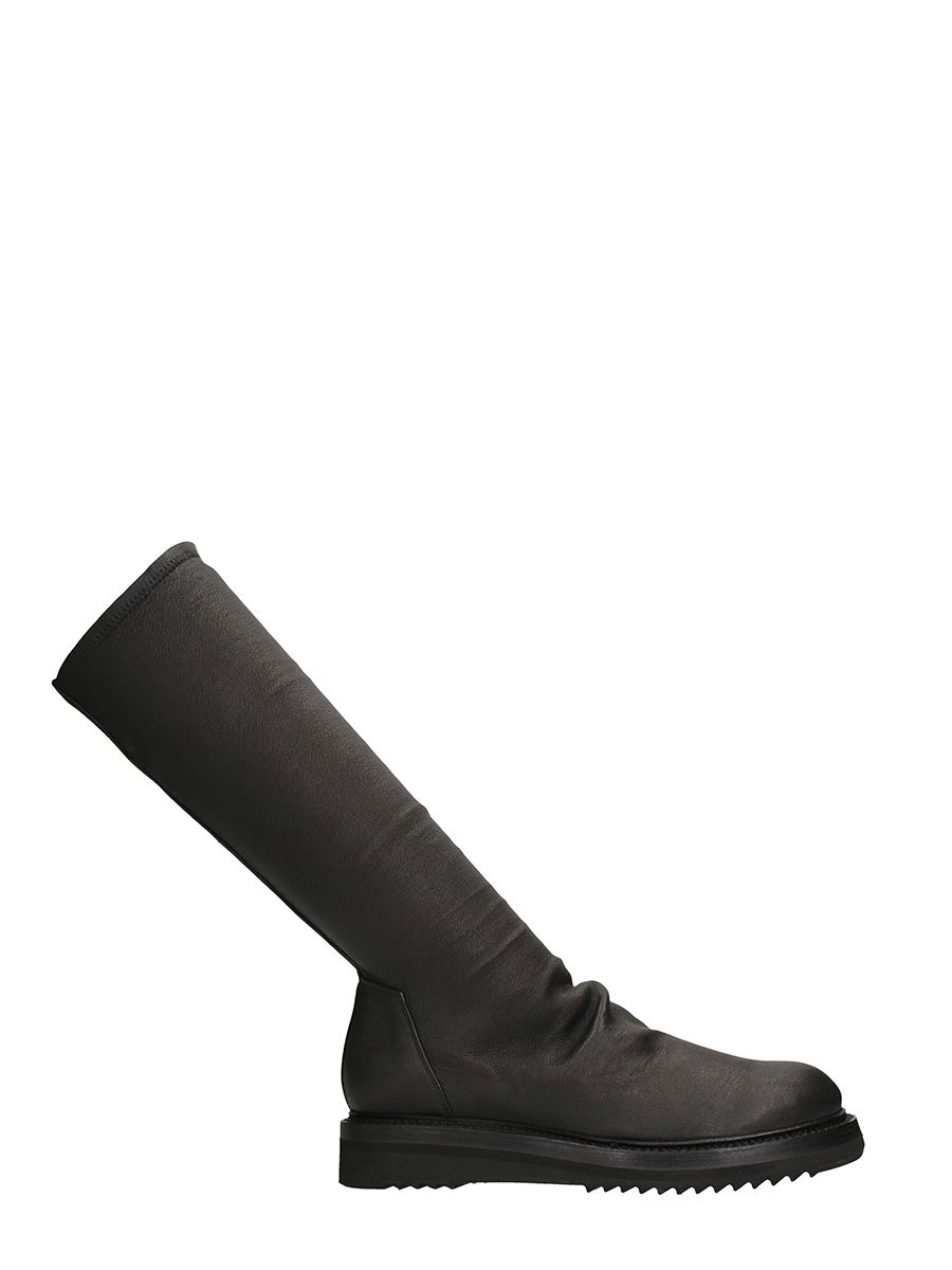 Rick Owens Creeper Sock Leather Boots