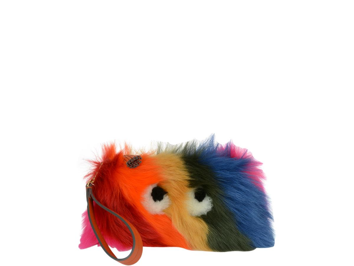 Anya Hindmarch Creeper Clutch With Shearling
