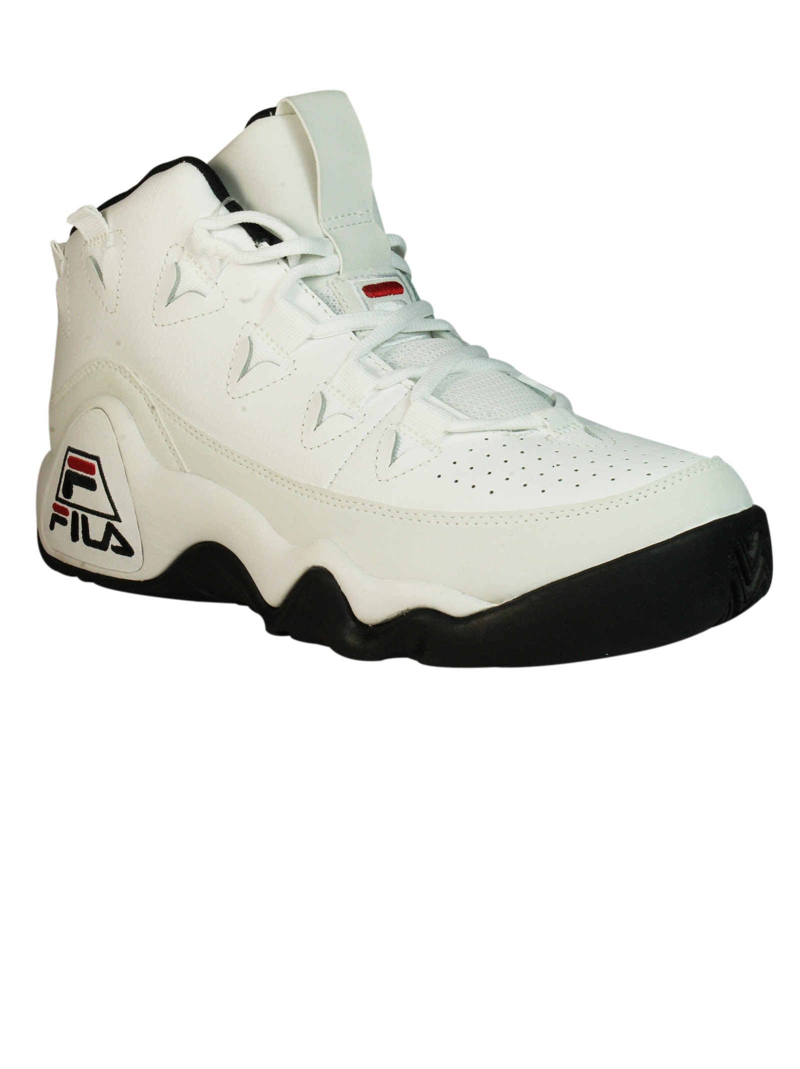 fila white sneakers. white fila 95 hi-top sneakers b