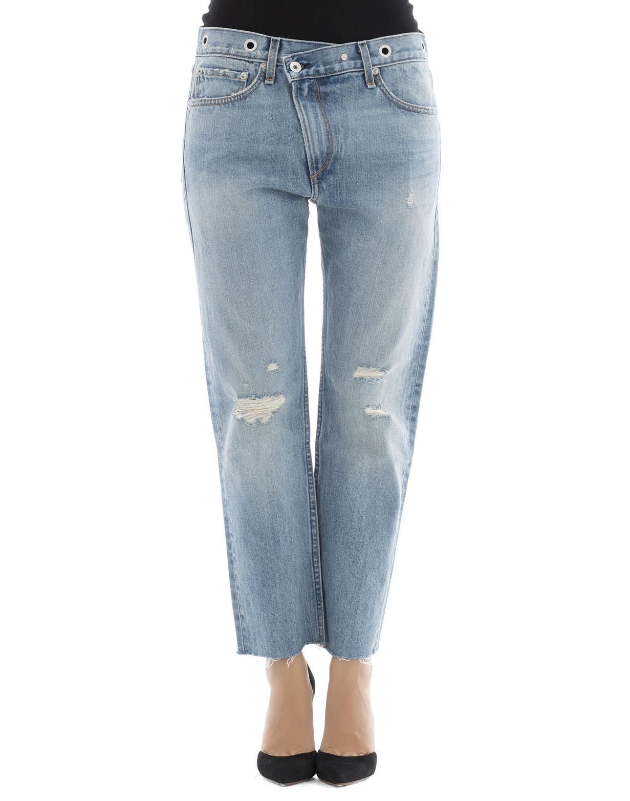 Light Blue Cotton Jeans