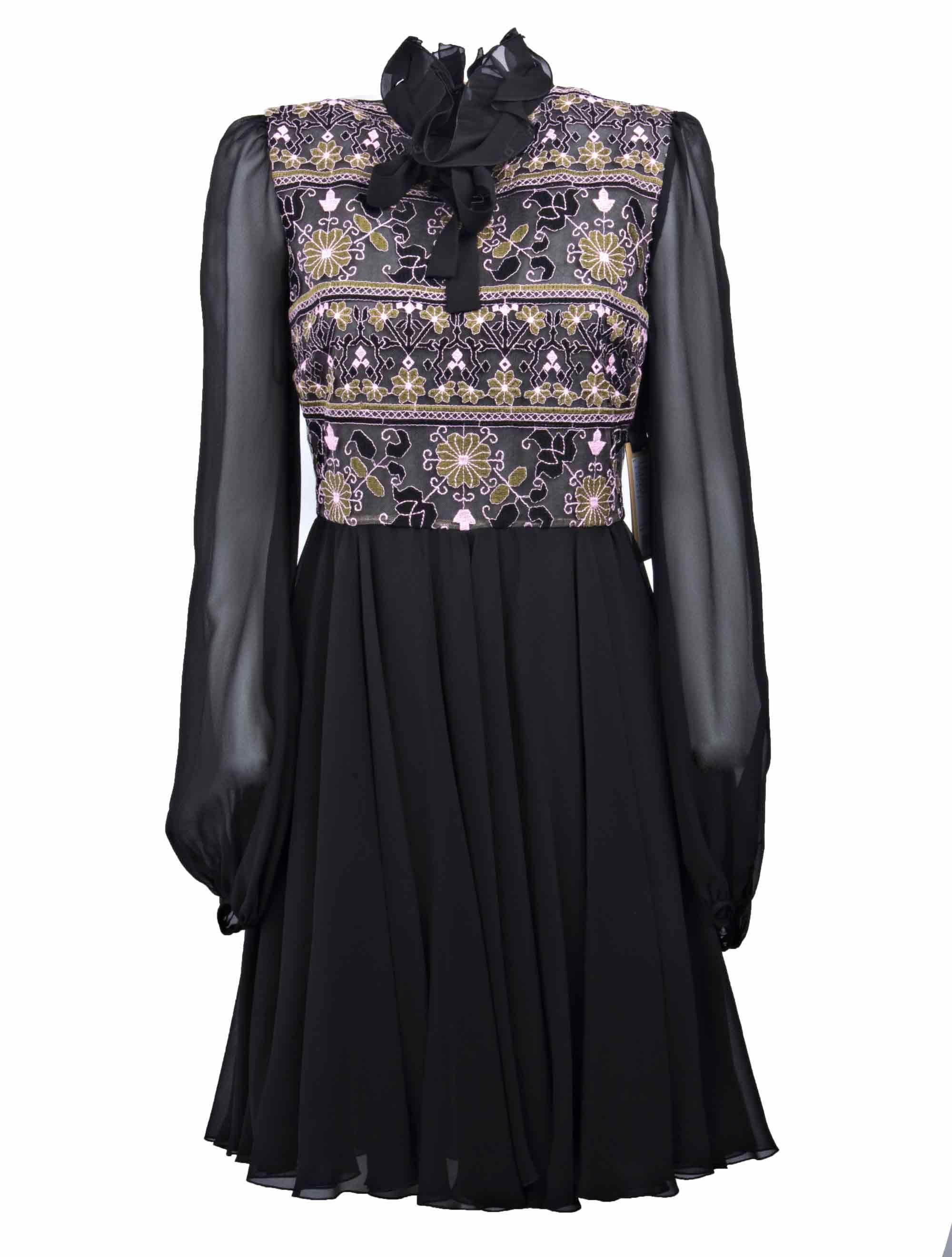 Giambattista Valli Sheer Printed Dress 9659696