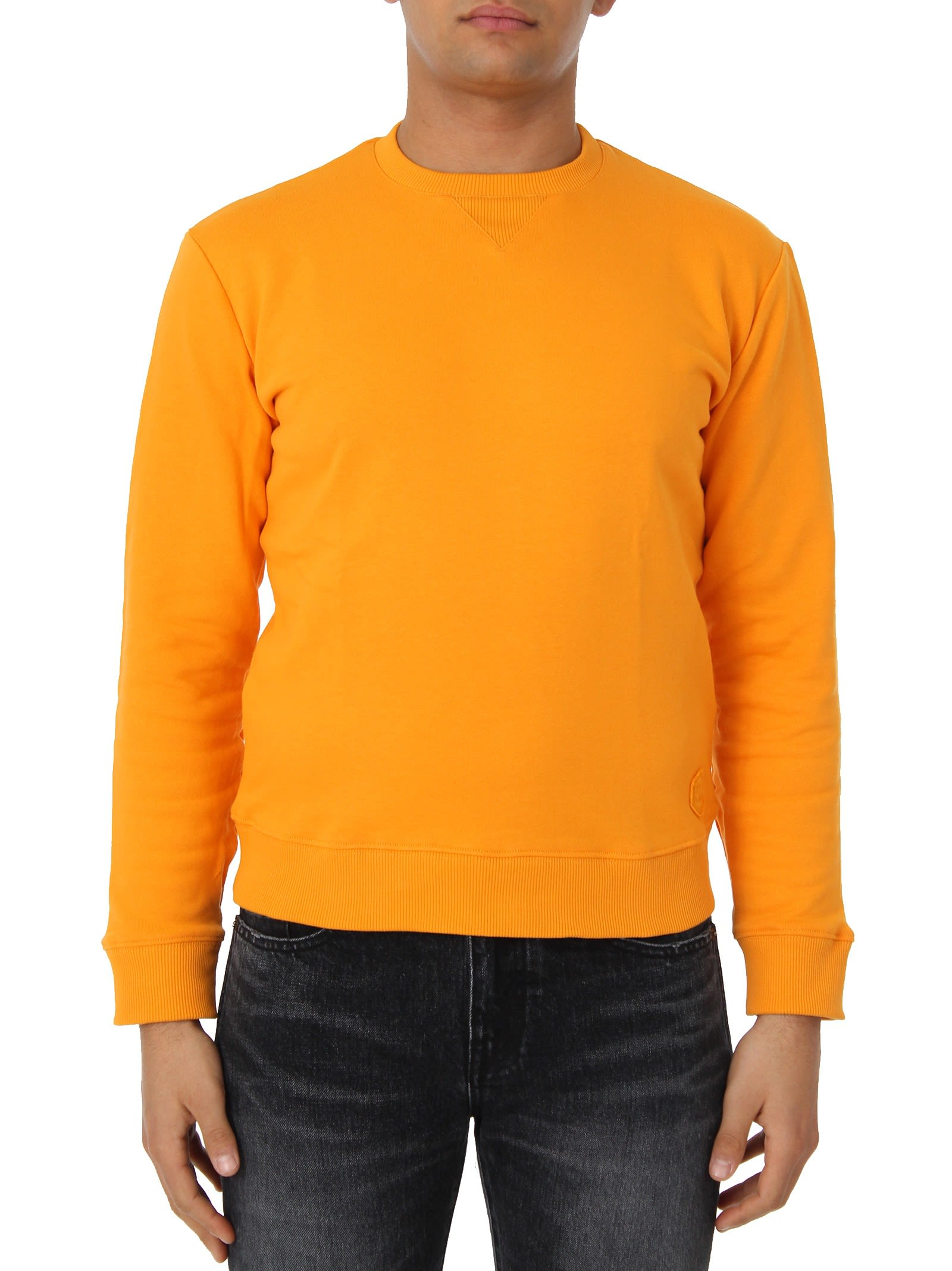 Saint Laurent Orange Logo Patch Sweat Shirt