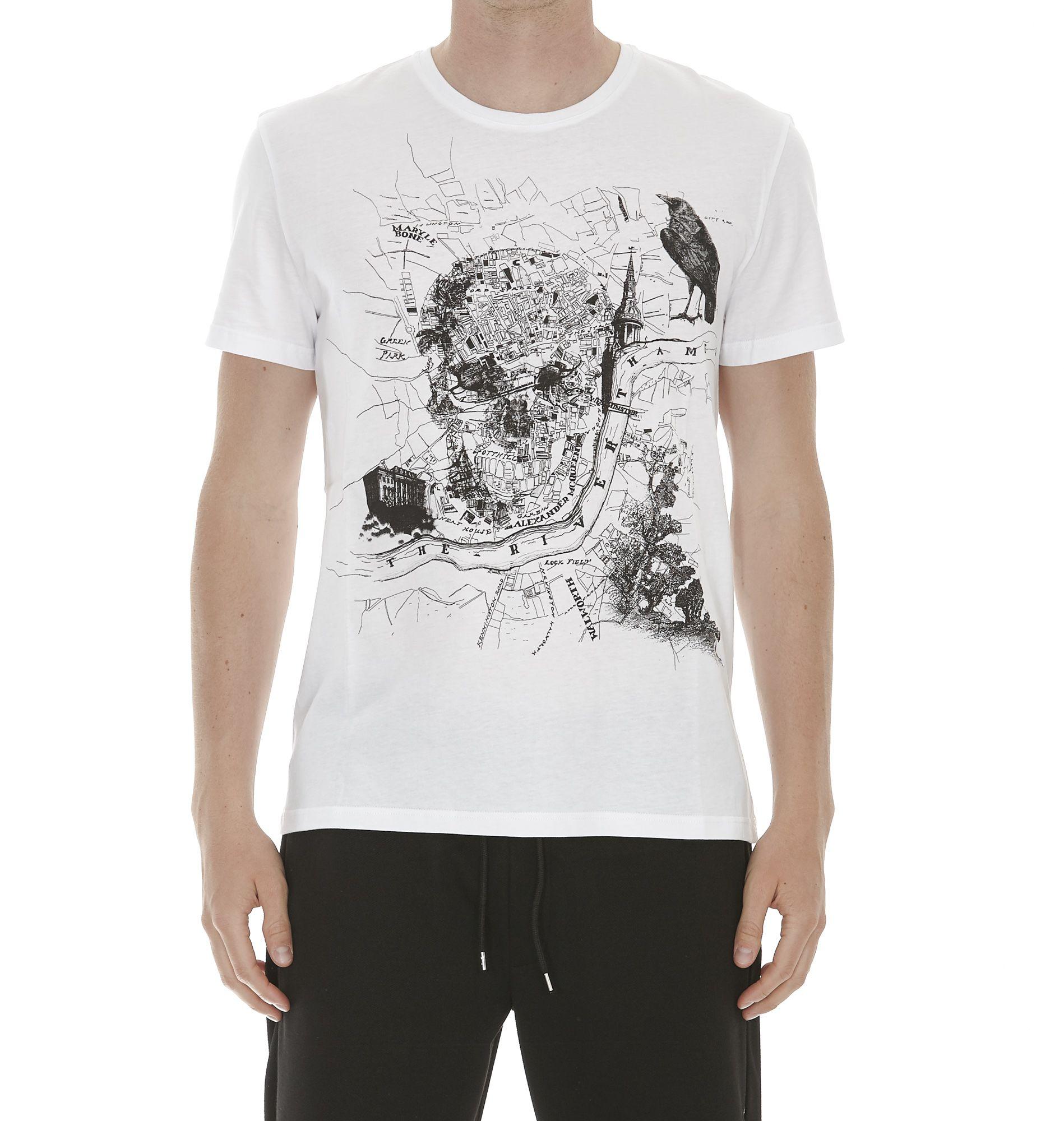 Alexander Mcqueen London Map Tshirt
