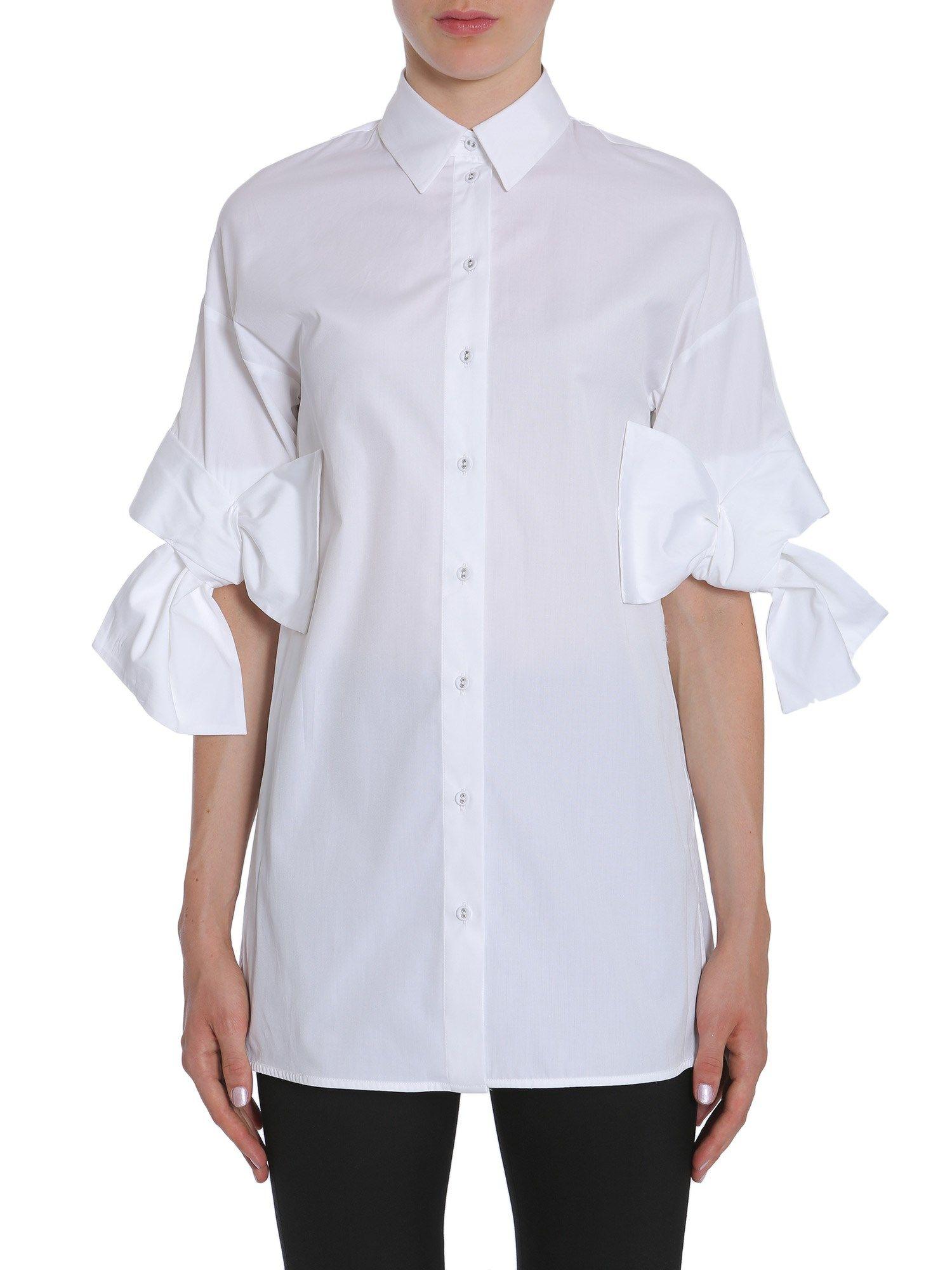 Victoria Victoria Beckham Cotton Poplin Shirt Bianco