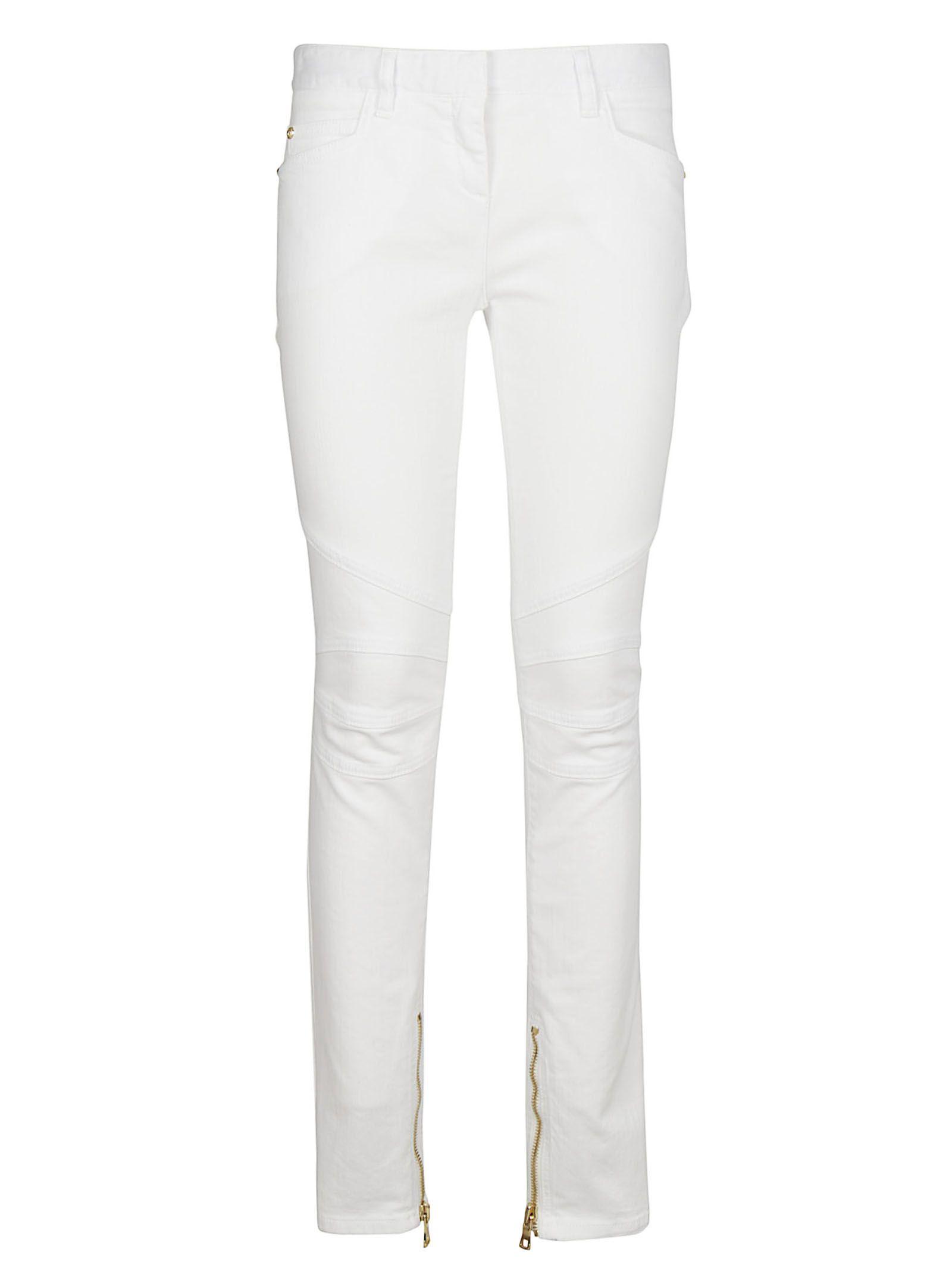 Balmain Mid-rise Skinny Biker Jeans