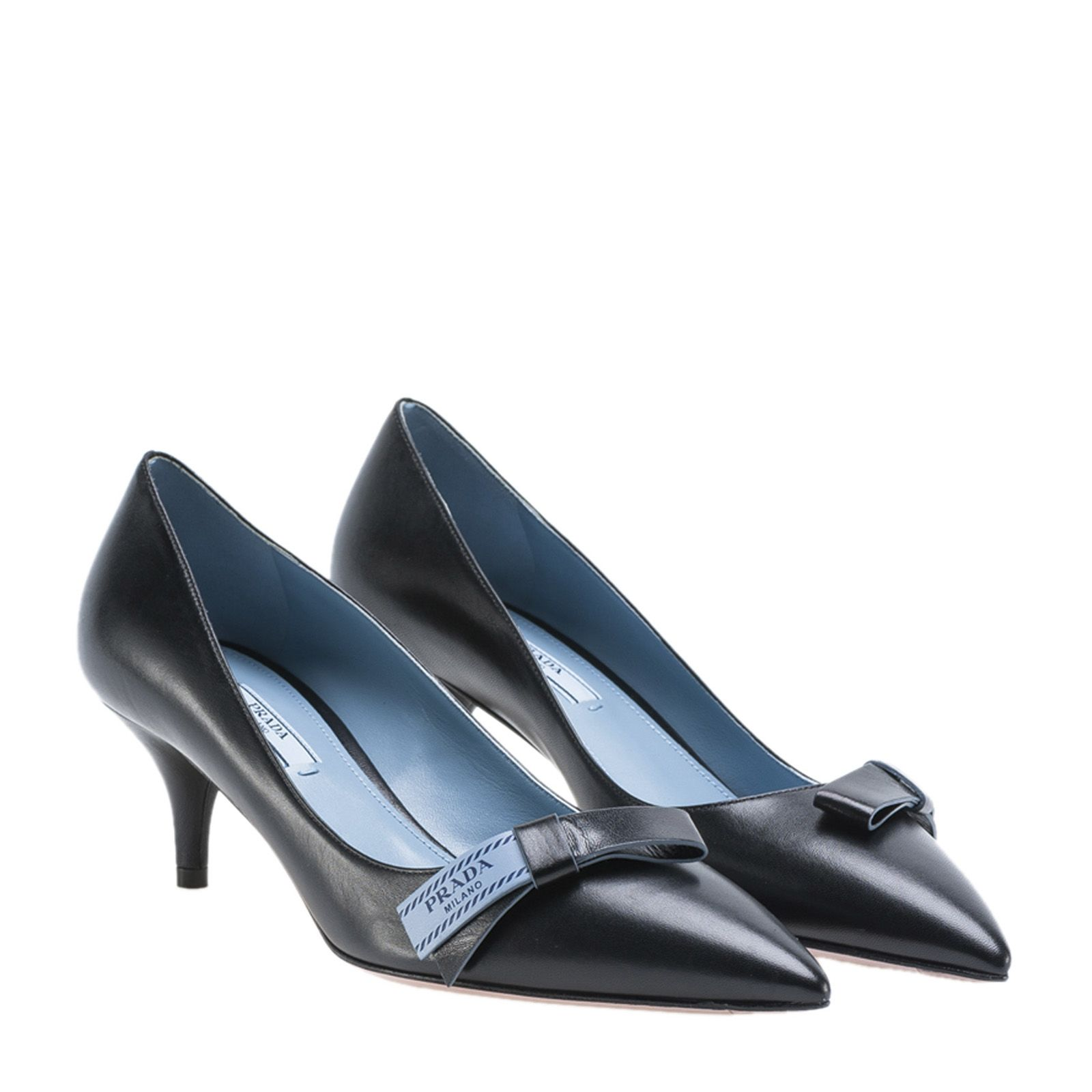 bow-embellished pumps - Black Prada