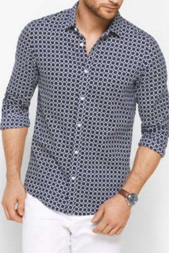 Michael Michael Kors Fleece And Cotton Slim-fit Shirt