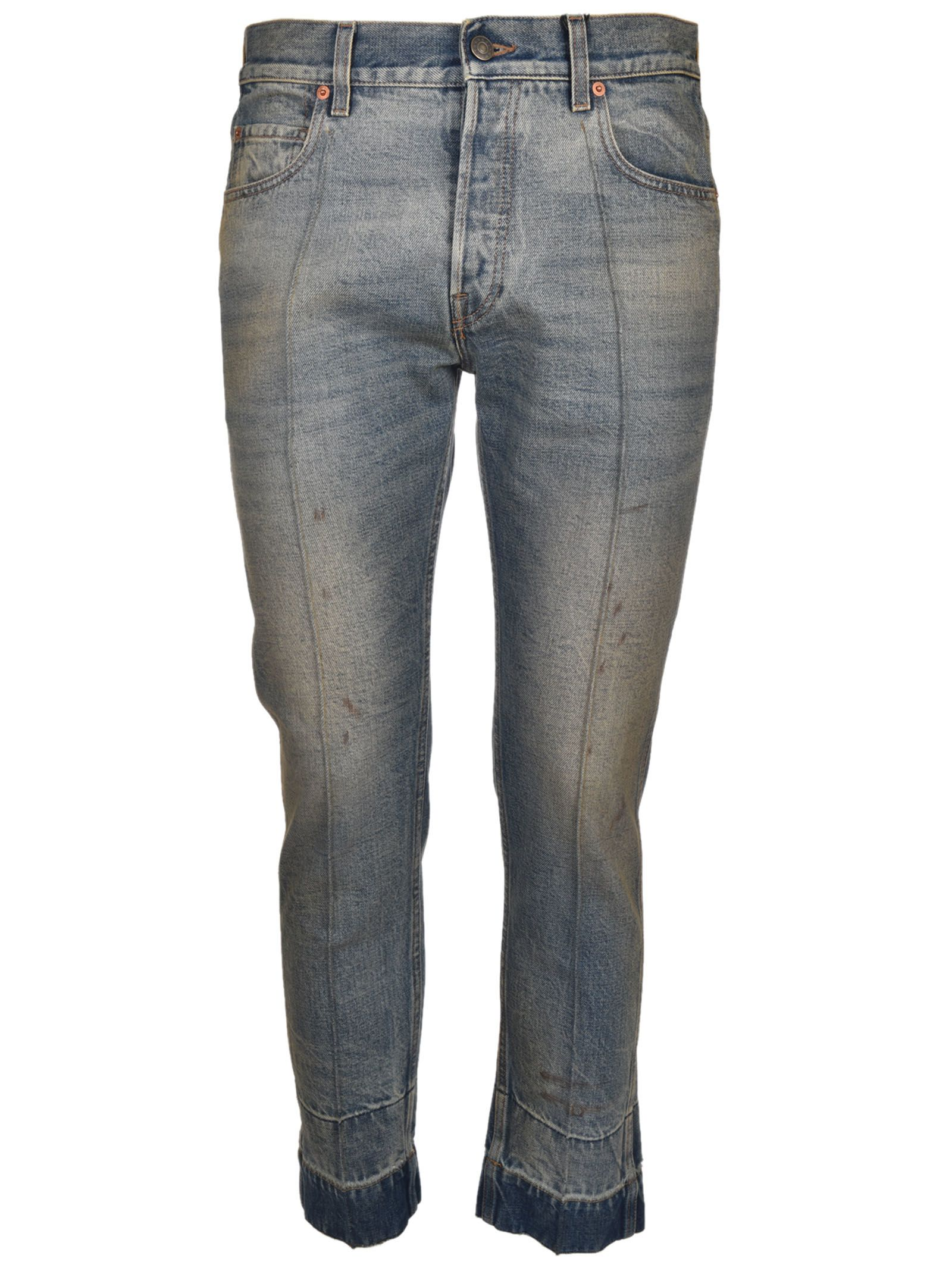 Gucci Stained Denim Punk Jeans