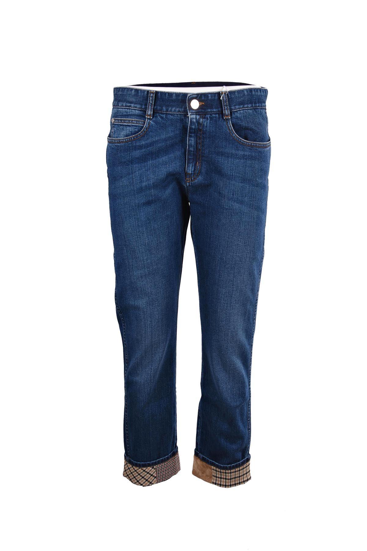Stella McCartney Mccartney Check Pocket Denim Jeans