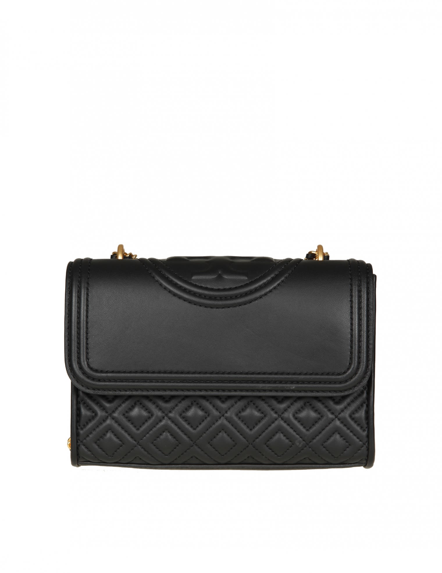 Tory Burch fleming Shoulder In Black Leather