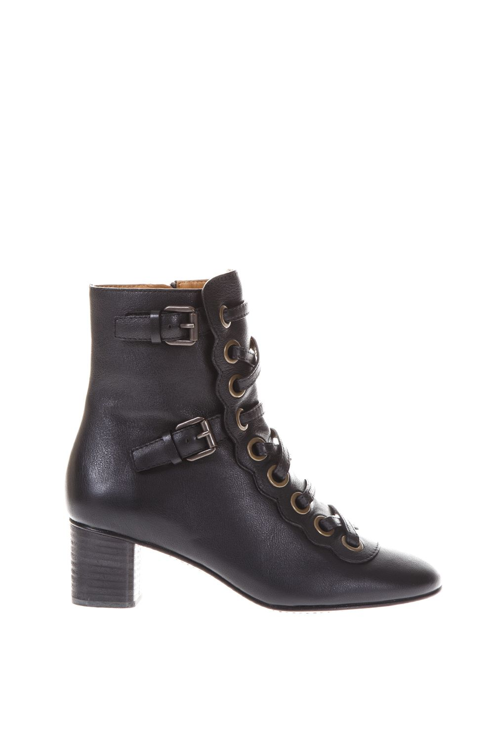 Chloé Orson Ankle Boots In Smooth Leather