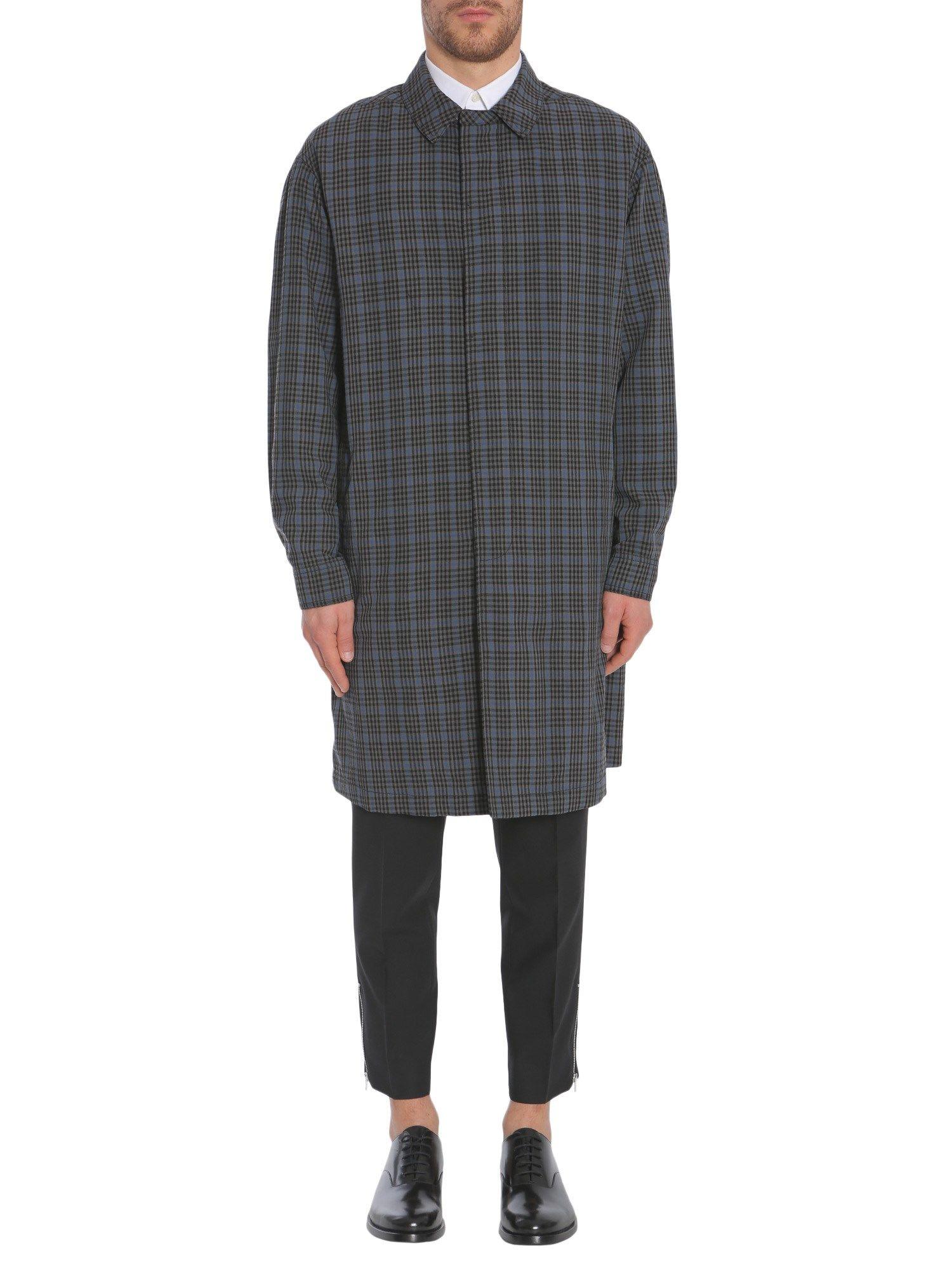 Dropped Shoulder Check Raincoat