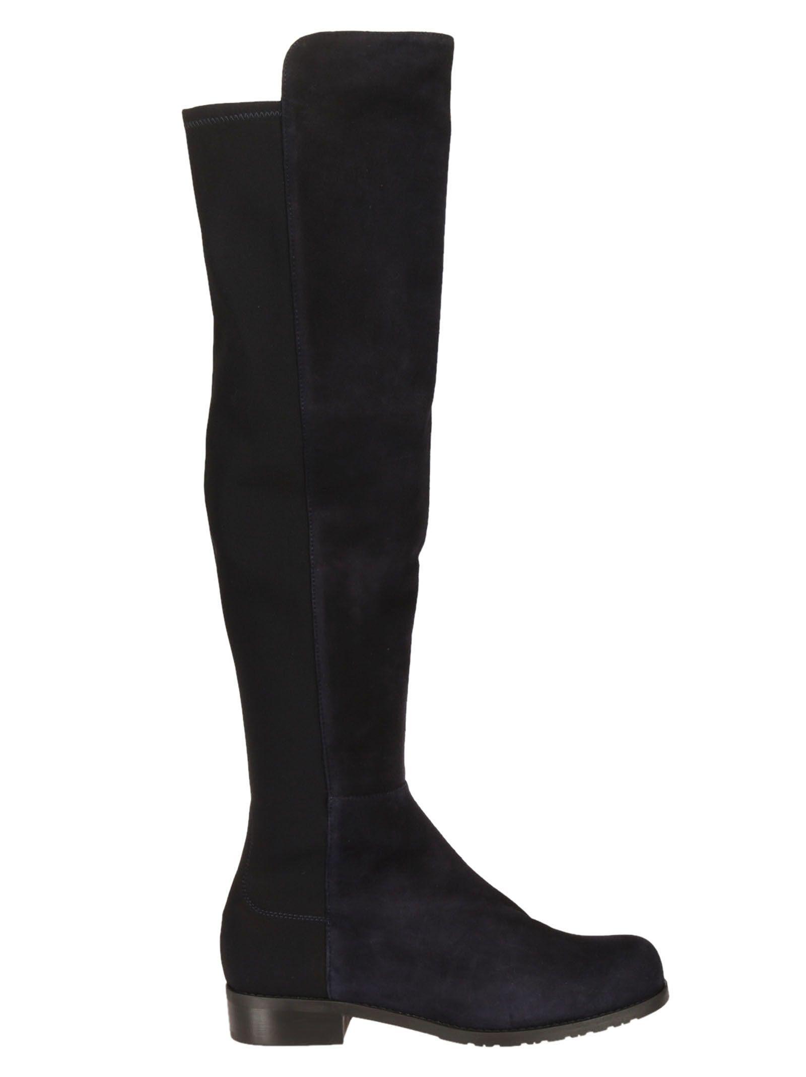 Stuart Weitzman Contrast Front Over-The-Knee Boots