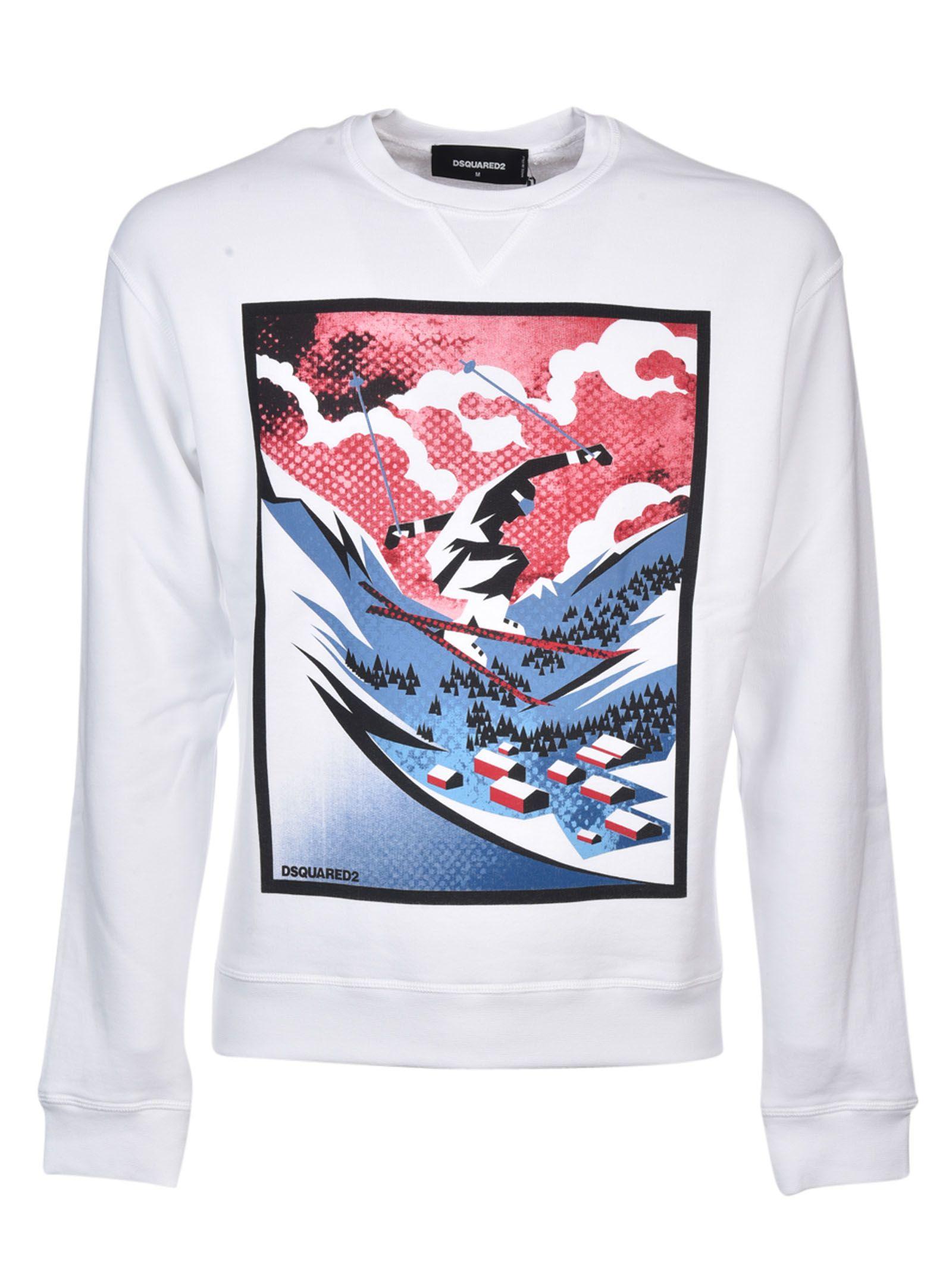 Dsquared2 Skier Print Sweatshirt