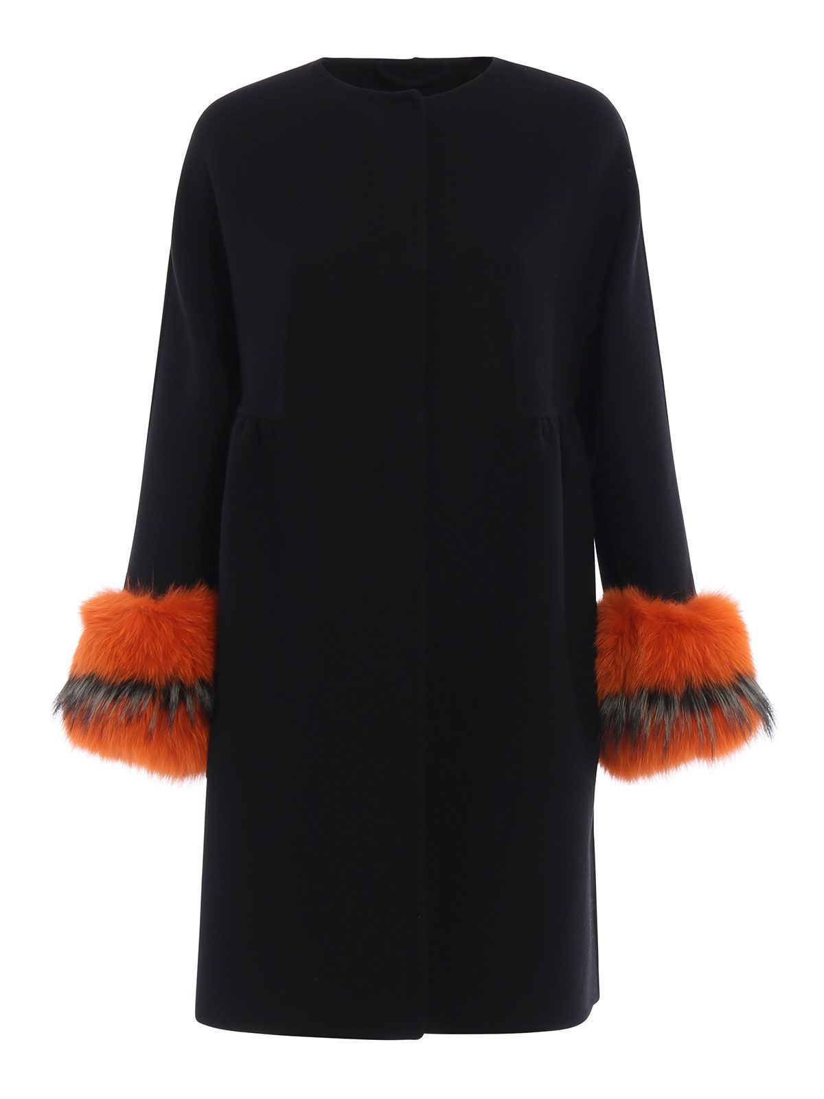 Ermanno Scervino Fur Trimmed Coat